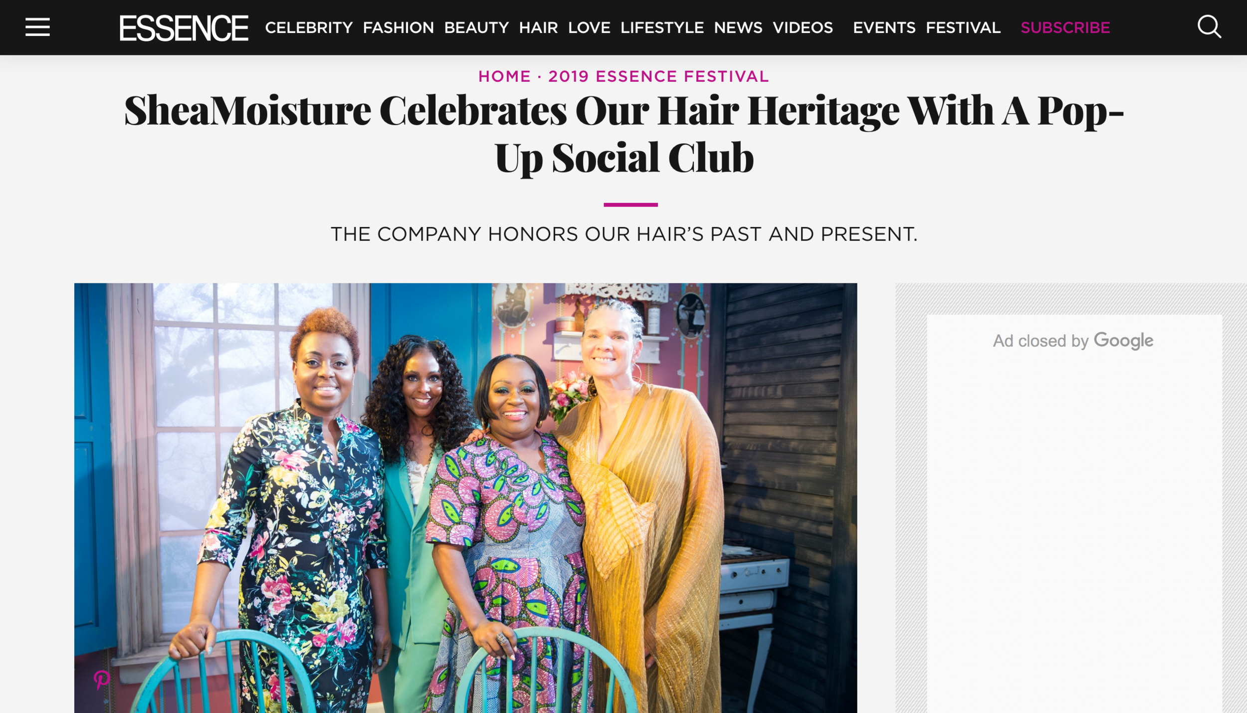 ESSENCE: B-Hen DJ's SheaMoisture Pop-Up Social at Essence Fest -