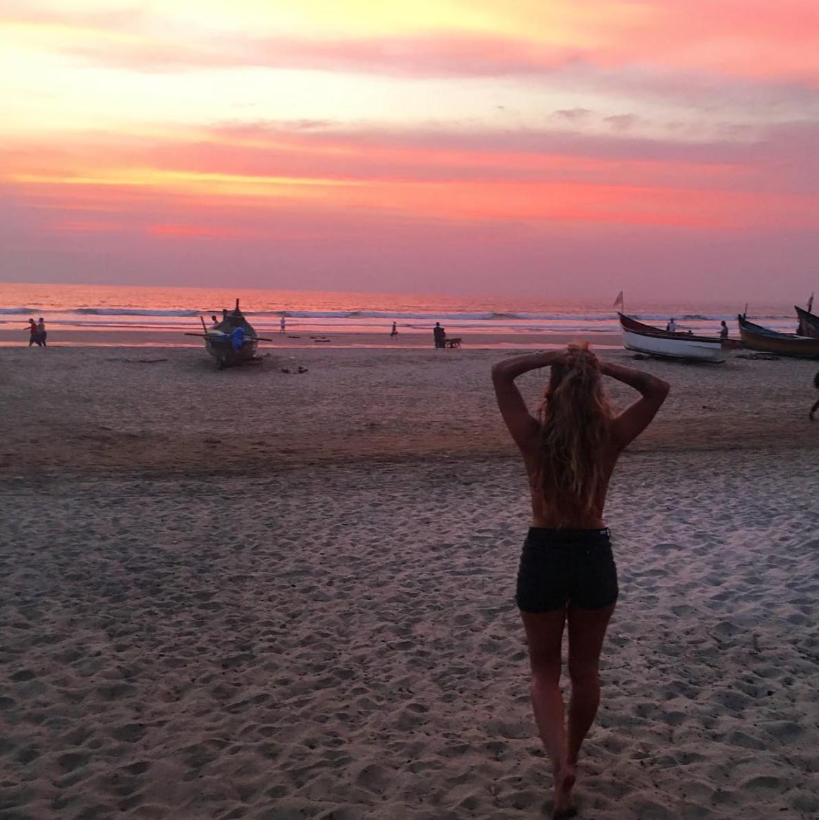Por do sol em Arambol Goa India