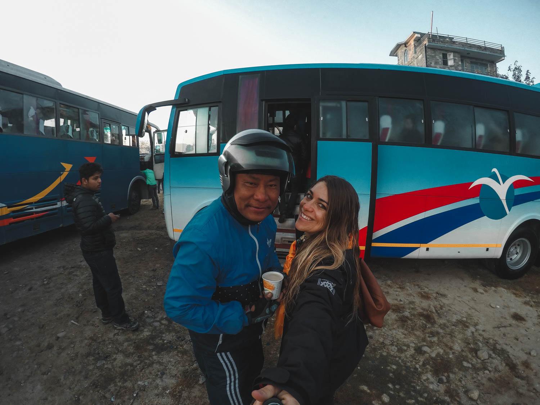 Pessoas Nepal mochila