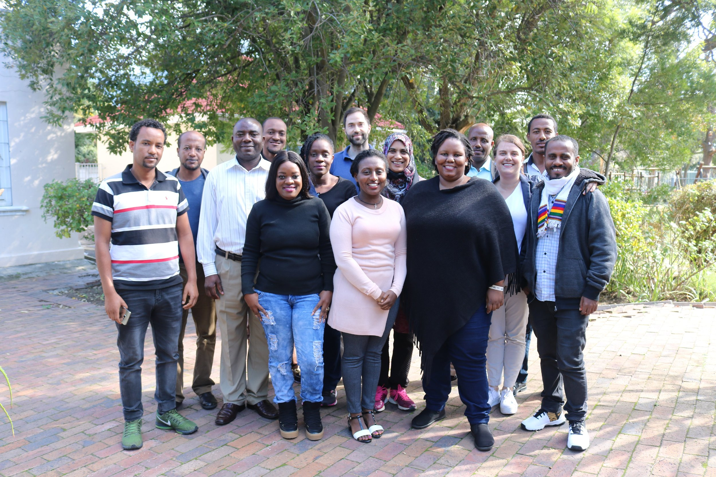 Cohort 3 AMARI fellows at ACES training in Cape Town, May 2018