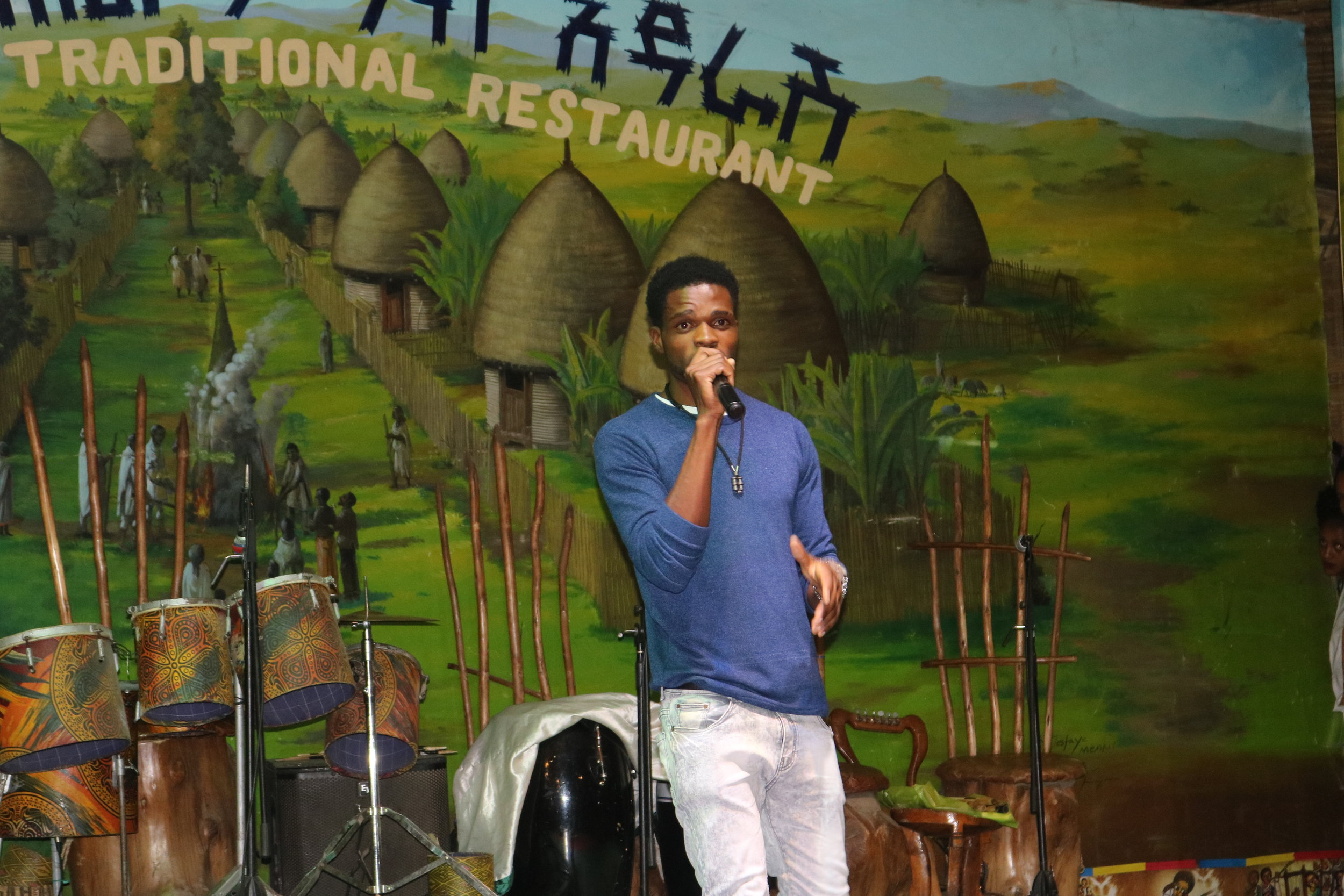 Claudious perfoming at the 2019 AMARI ASM in March, Ethiopia