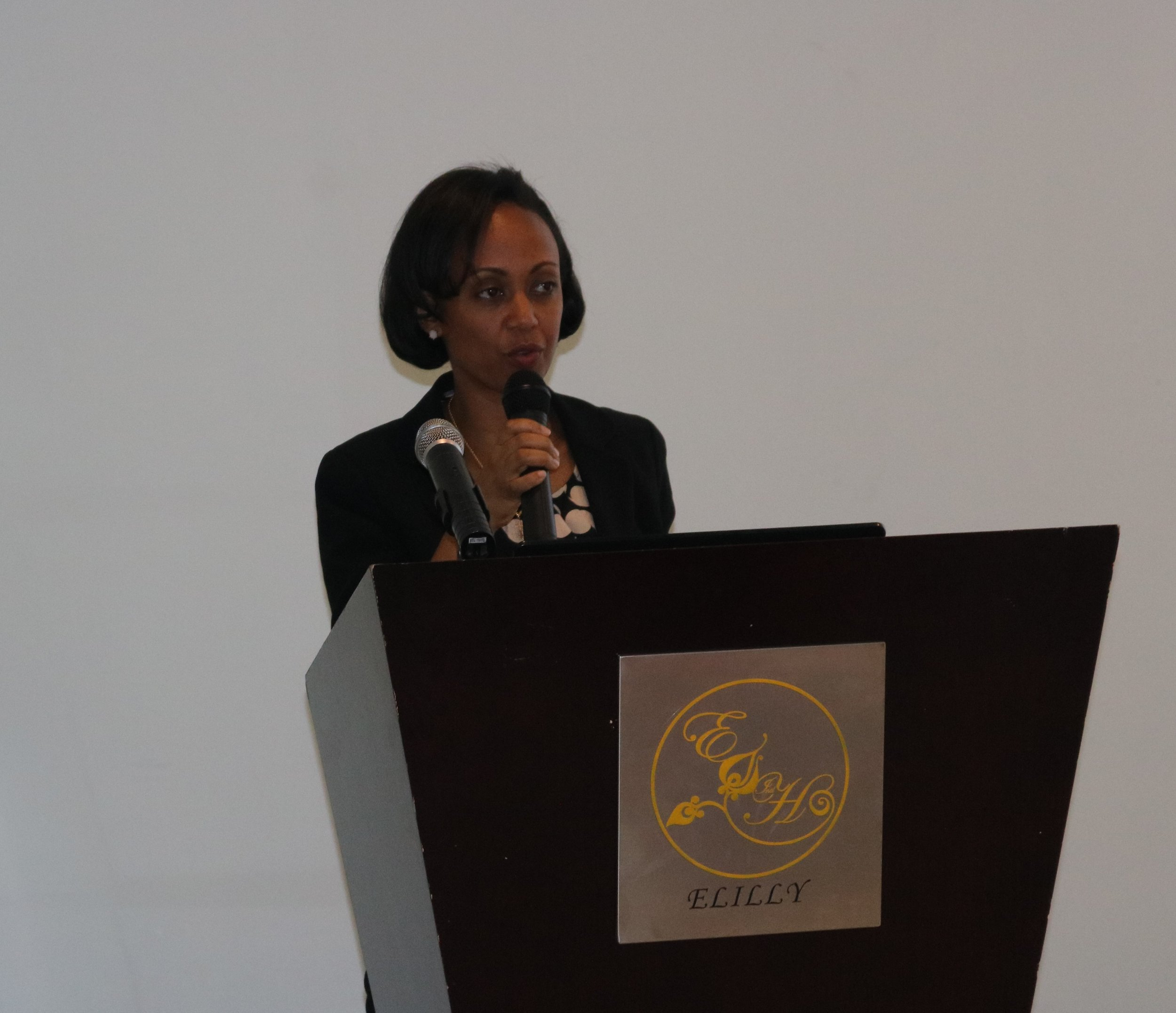 Ethiopia State Minister of Health, Dr Liya Tadesse officially opening the ASM