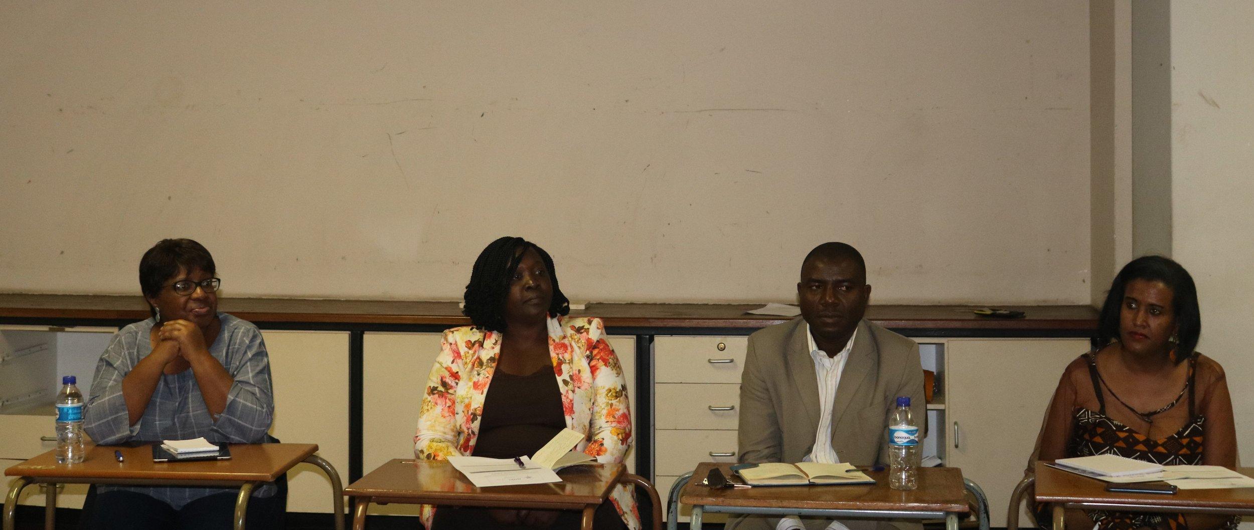 From Left to right, speakers: Angelica Mkorongo, Winnie Ndoro, Ignicious Murambidzi & Eleni Misganaw