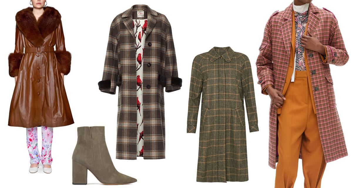 Fox Coat SAKS POTTS  //  Nebria Boots Khaki fra PURA LOPEZ  //  Annabel Coat fra Oh! BY KOPENHAGEN FUR  //  Chloelle Check Coat fra LOVECHILD1979  //  Janet Pink Check Coat fra Lala Berlin