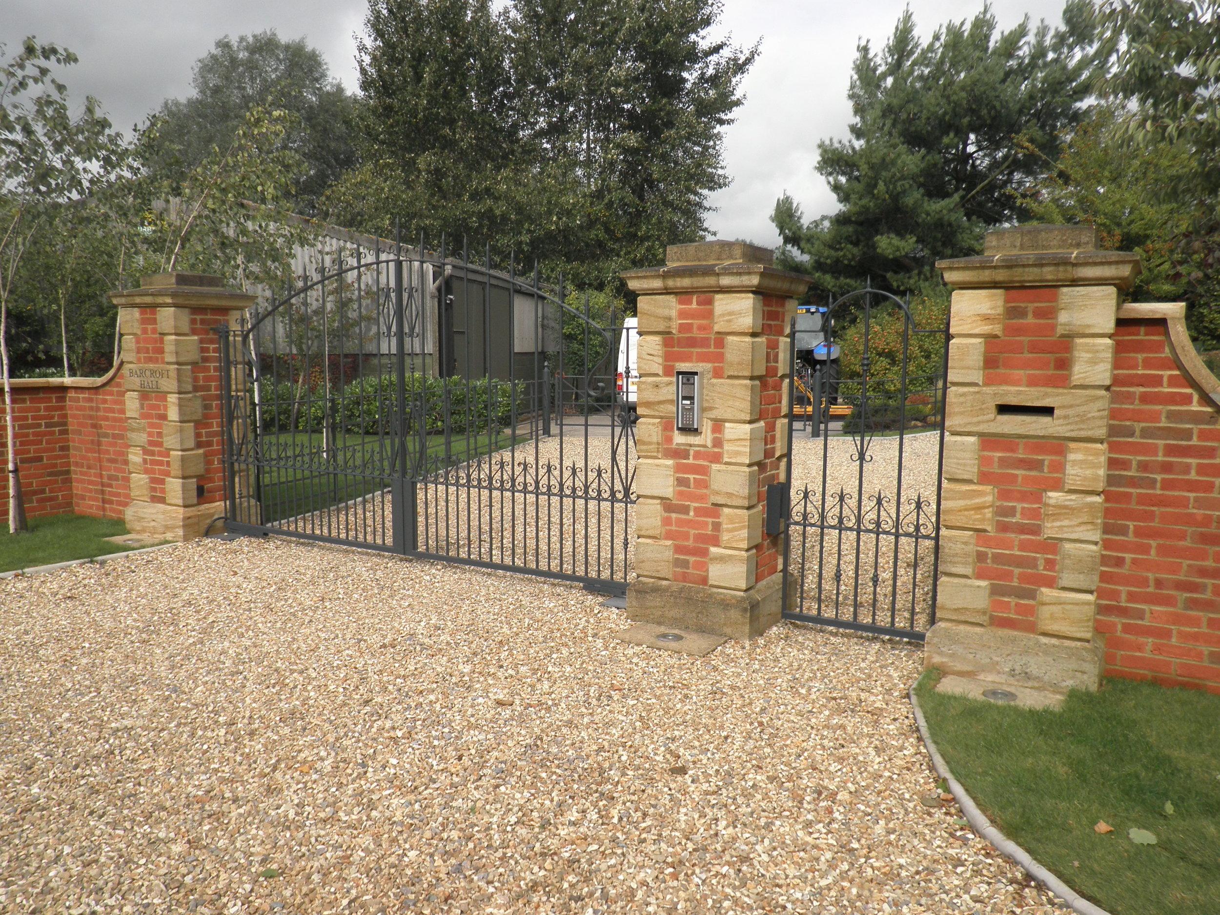 Metal Gates with Pedestrian Access