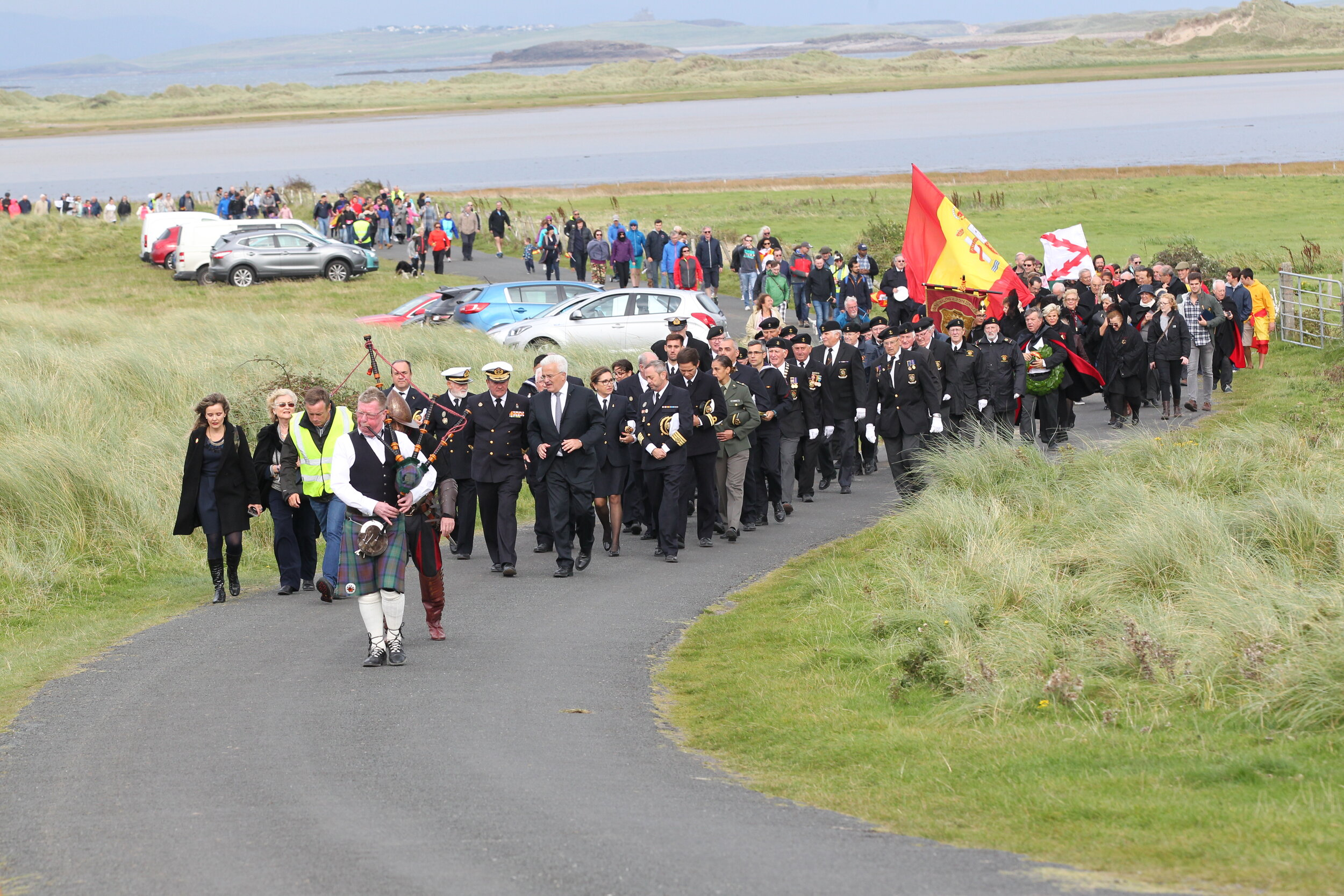 The Remembering the Armada Parade at Streedagh Beach - photo Charlie Brady