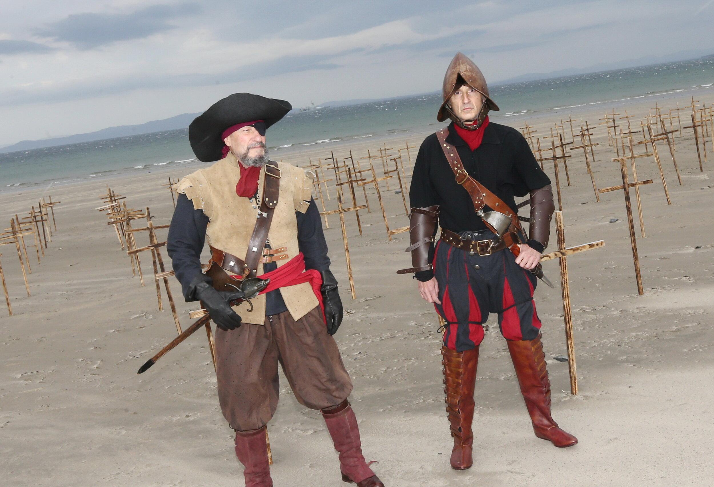 Armada Sailors on the Beach - photo Charlie Brady