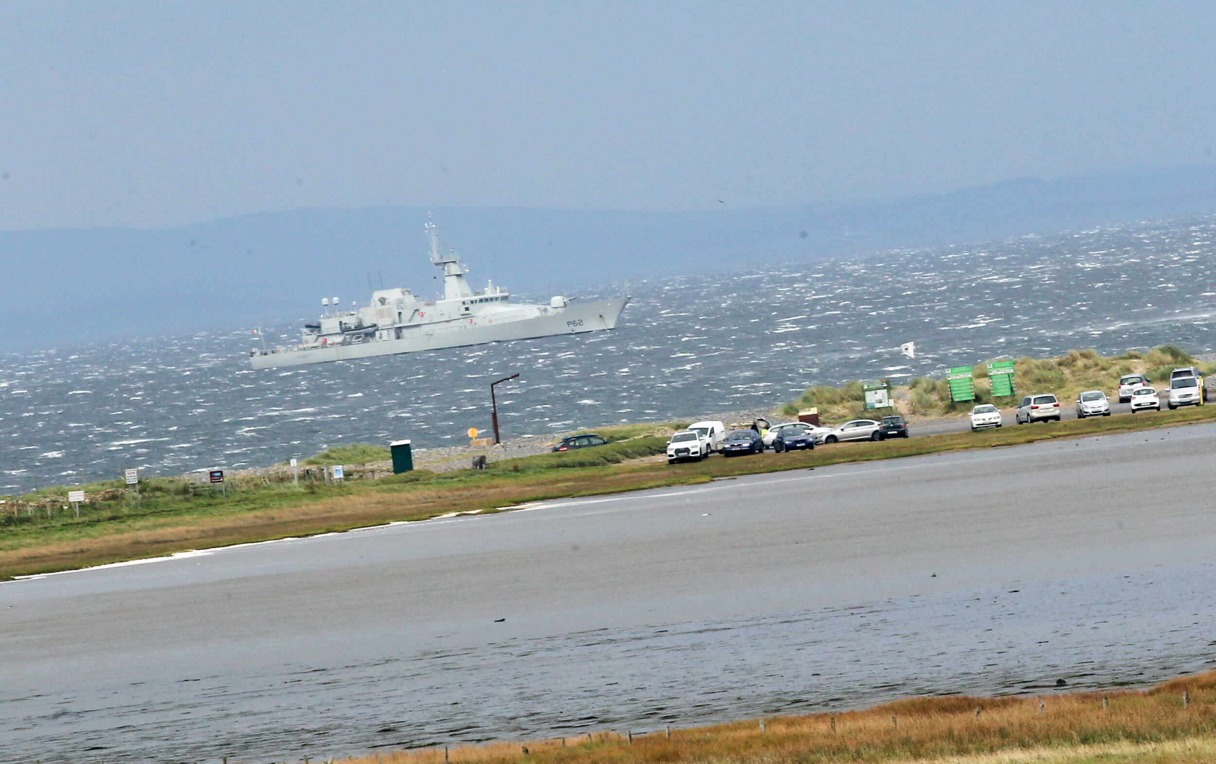 Naval vessels in Sligo Bay - photo Charlie Brady
