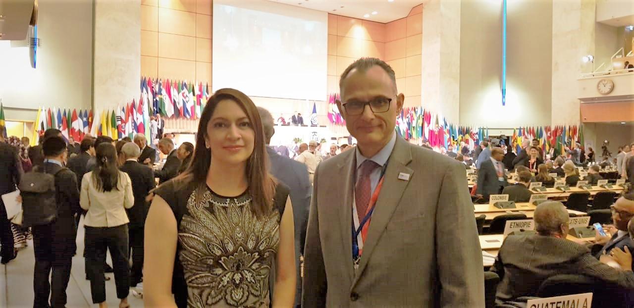 Director de la Unidad Laboral de CACIF, Guido Ricci y  Alicia Valenzuela representante de Agexport en la Comisión Laboral