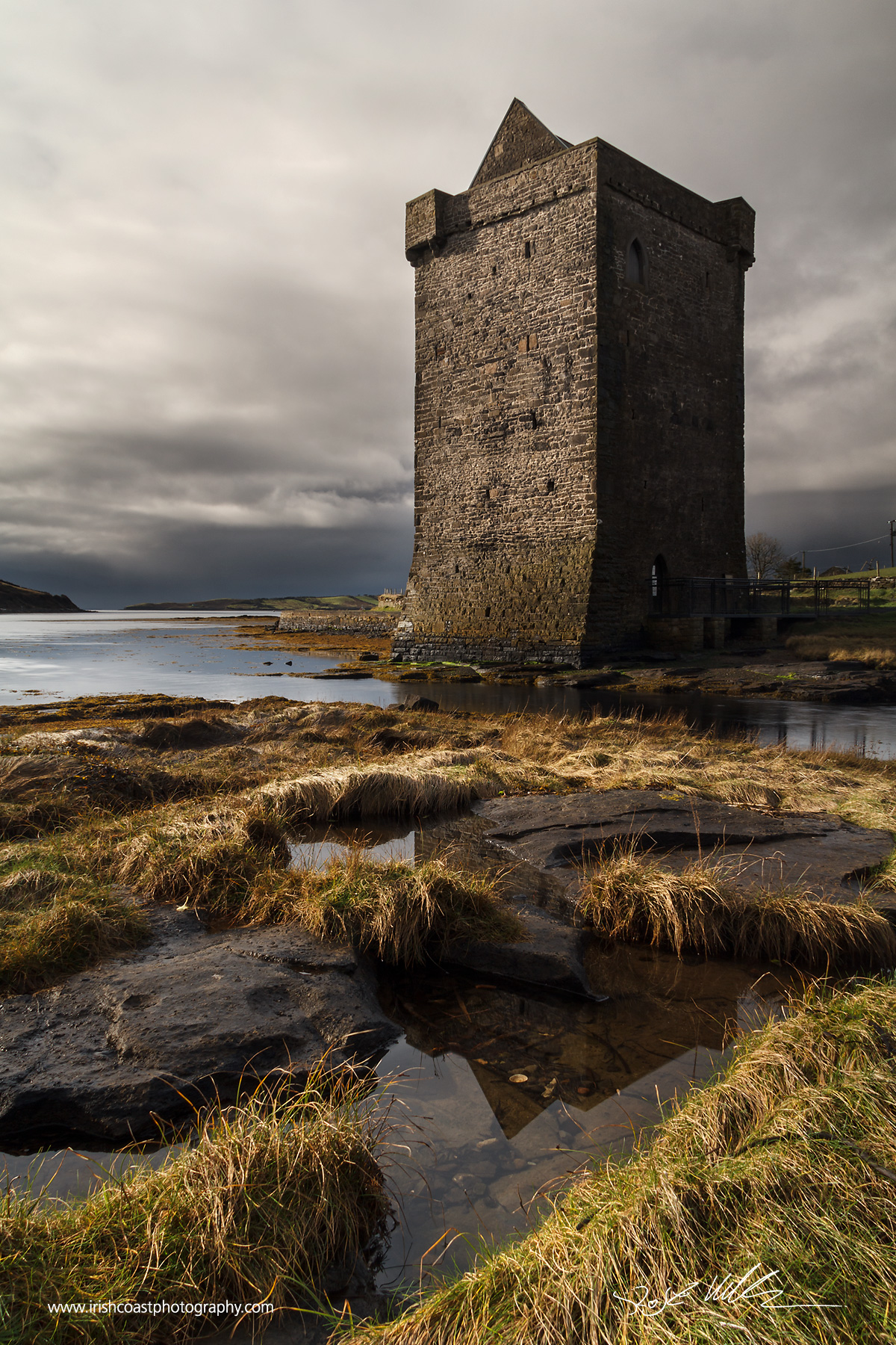 Rockfleet Castle, one of the Pirate Queen Grace O'Malley's premises near Newport, Co. Mayo