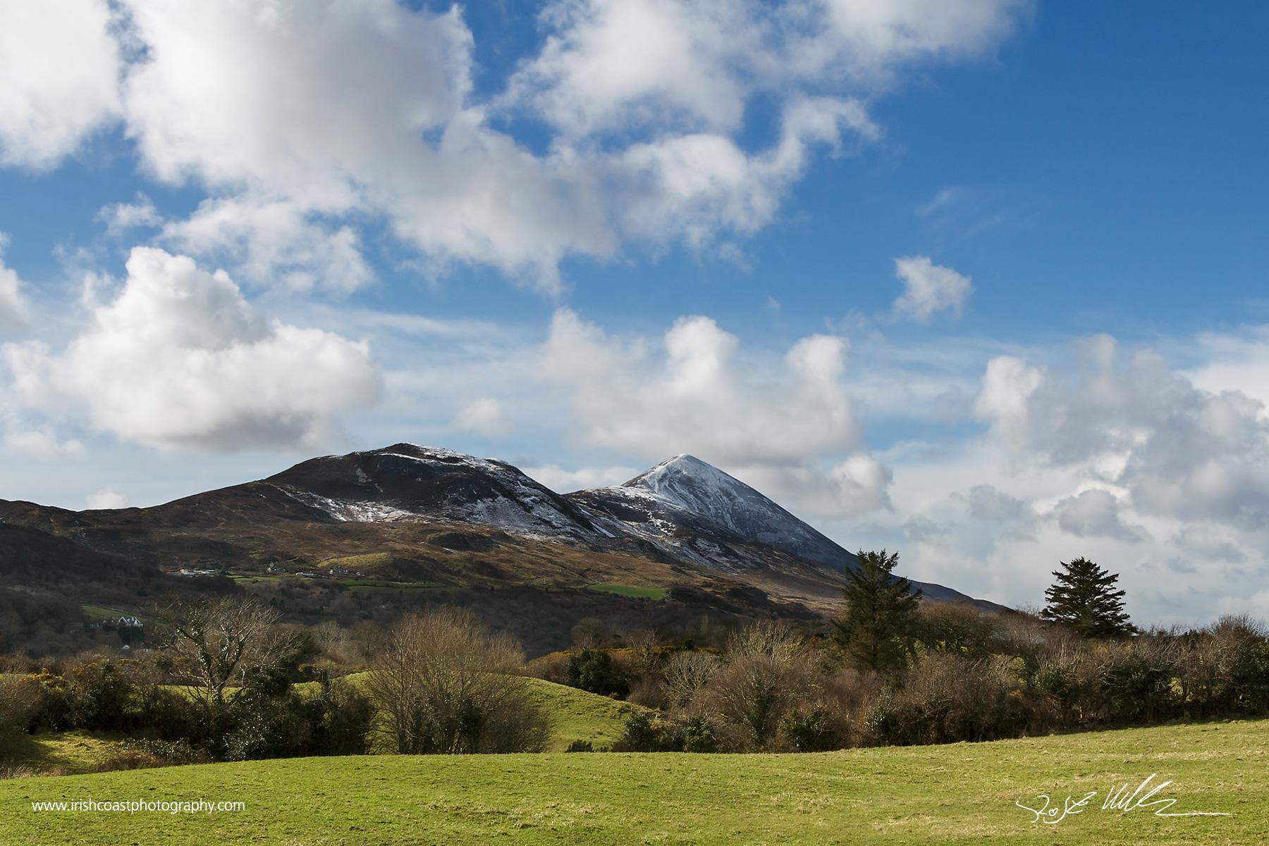 Snowcapped Croagh Patrick