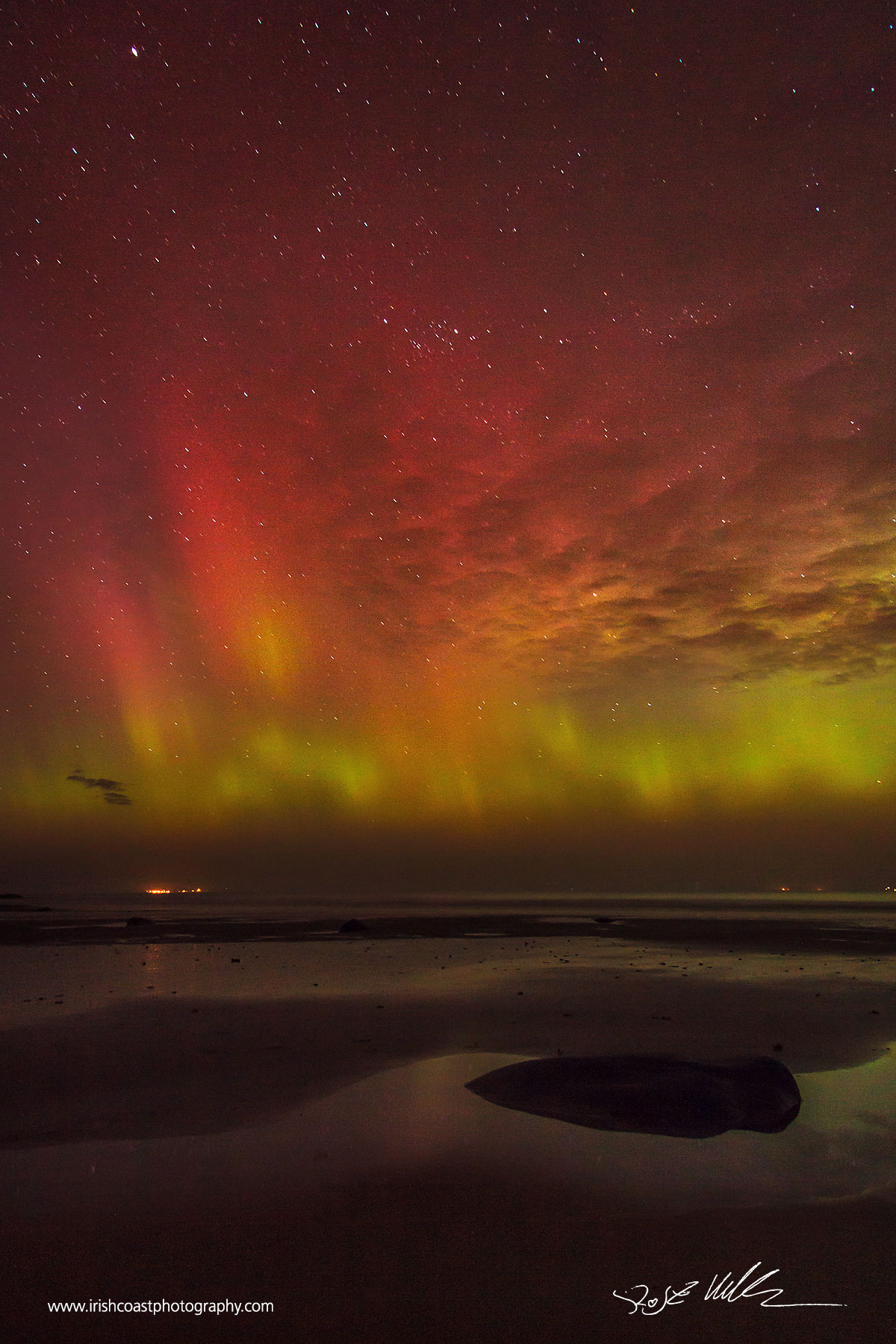 Aurora Borealis over Clew Bay on St. Patrick's Day 2015