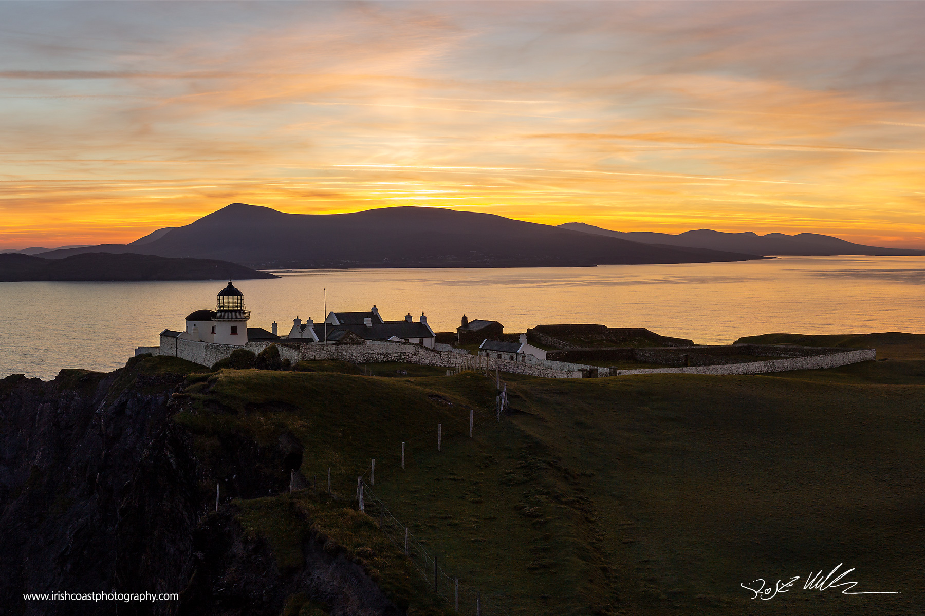 Dawn over Clare Island Lighthouse