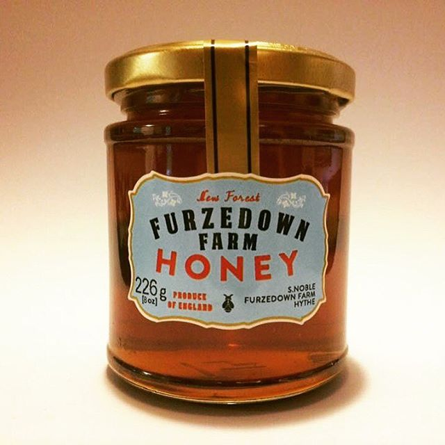 A Jar of Furzedown Farm Honey, the product of thousands of miles flown by the bee.