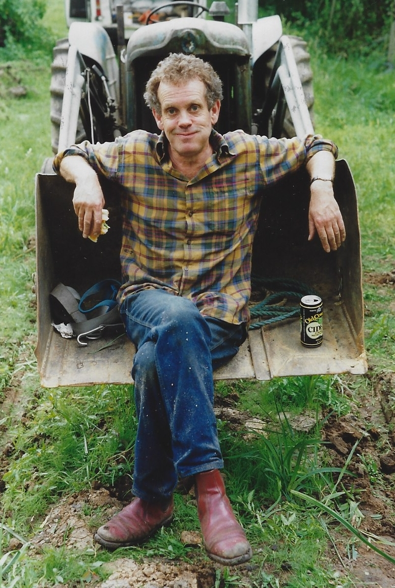 Deryk, back in the day. After an enjoyable days work in the woods, a few ciders were often enjoyed.