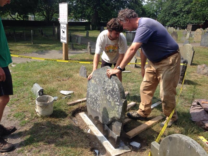 Resetting of repaired stone