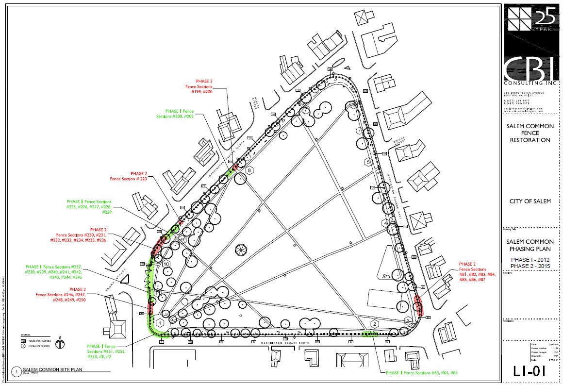 Plan for phased restoration of fence sections