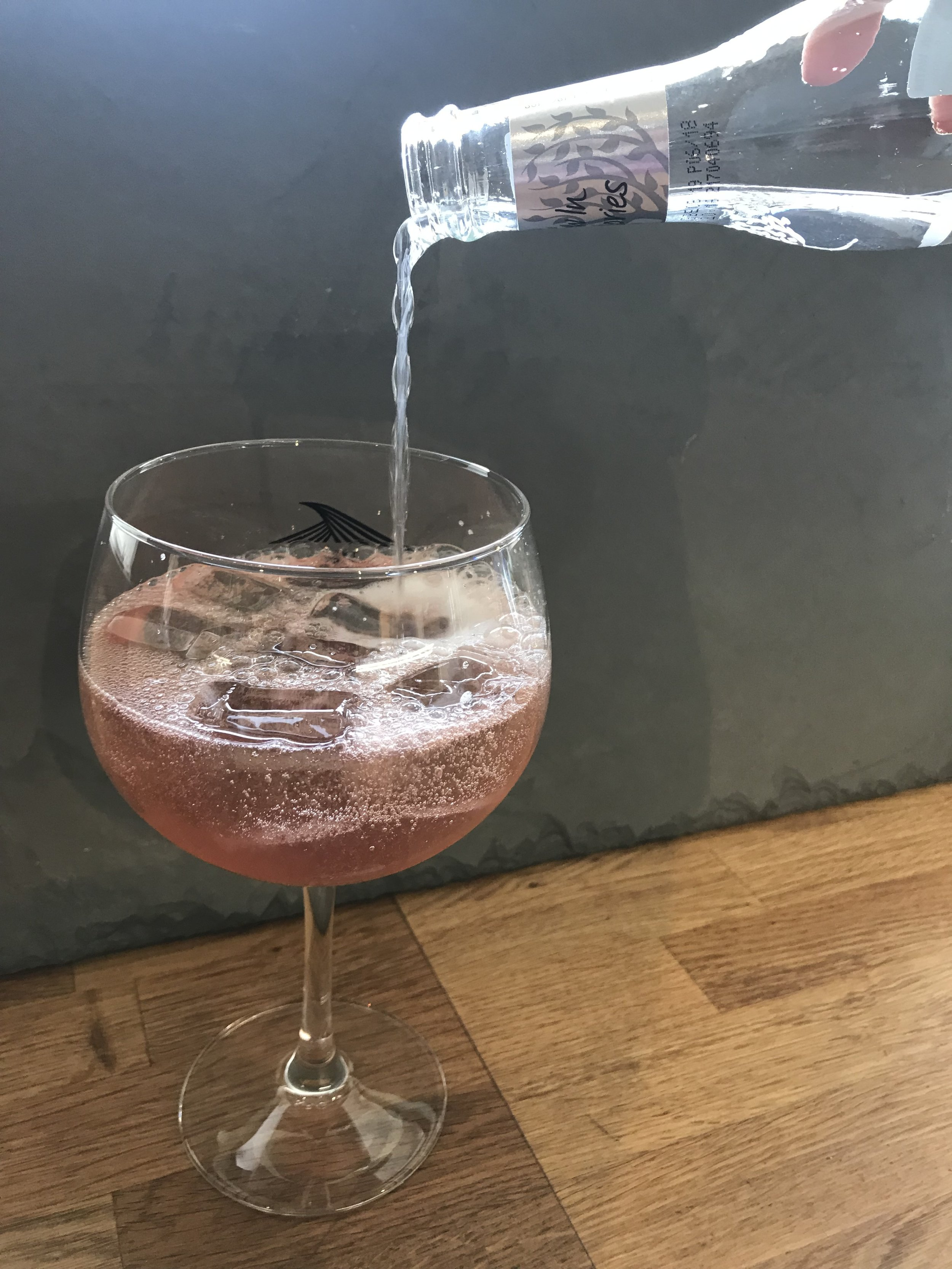 Enjoy Lakeland Liqueurs with your favourite tonic in our wine bar!