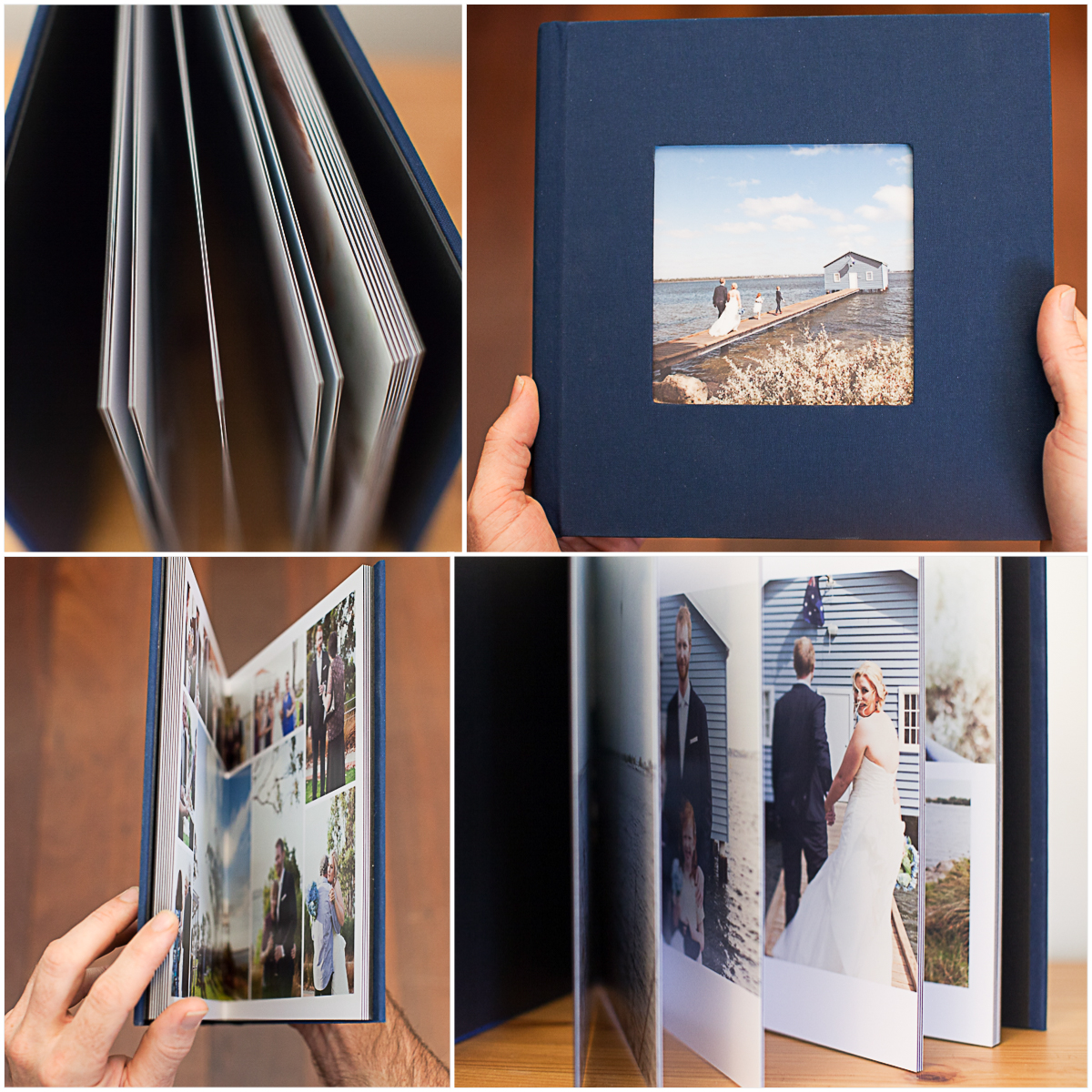 The details and memories all in one place. - Artisan linen photo album with custom layouts. You'll be happy you printed.