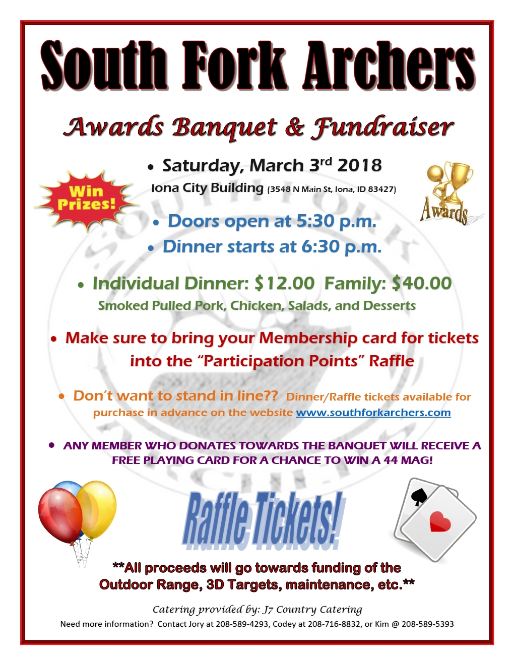 South Fork Archers 2017 Banquet