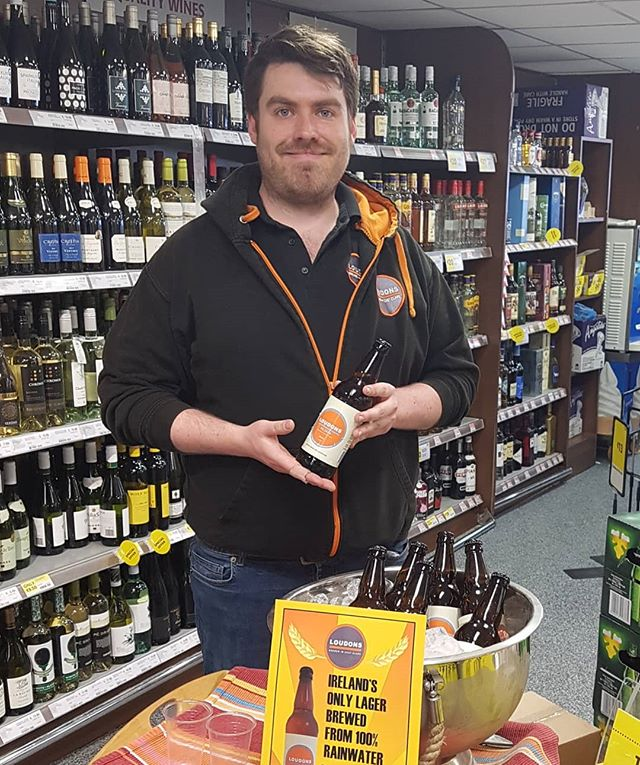 Pop on down to SuperValu Tulla to taste our lager with brewer Alex Loudon. On sale from today, 4 bottles for €10!!