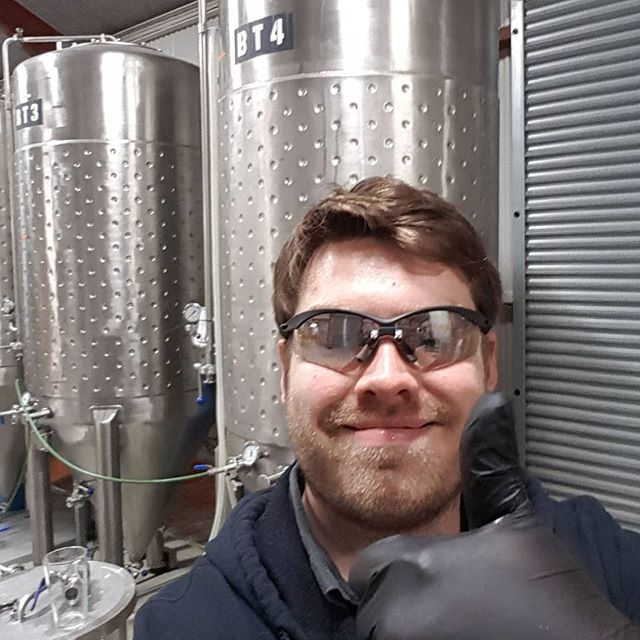 Spirits are high and the night is late as head brewer Alex ensures we keep up with the summer demand. Lots of thirsty Loudons drinkers means the new Pilsner bottles are flying out the door!  #craftbeer #rainwaterbeer #drinklocal #clarebeer