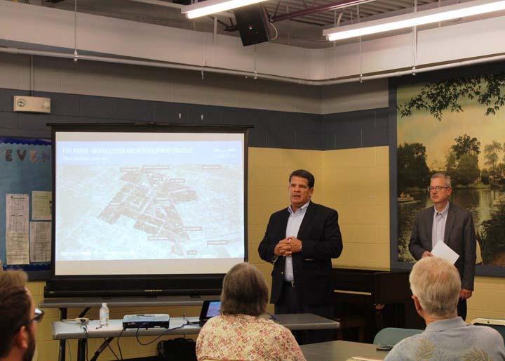 Mayor Tony Roswarski and Economic Development Director Dennis Carson introduce the project.