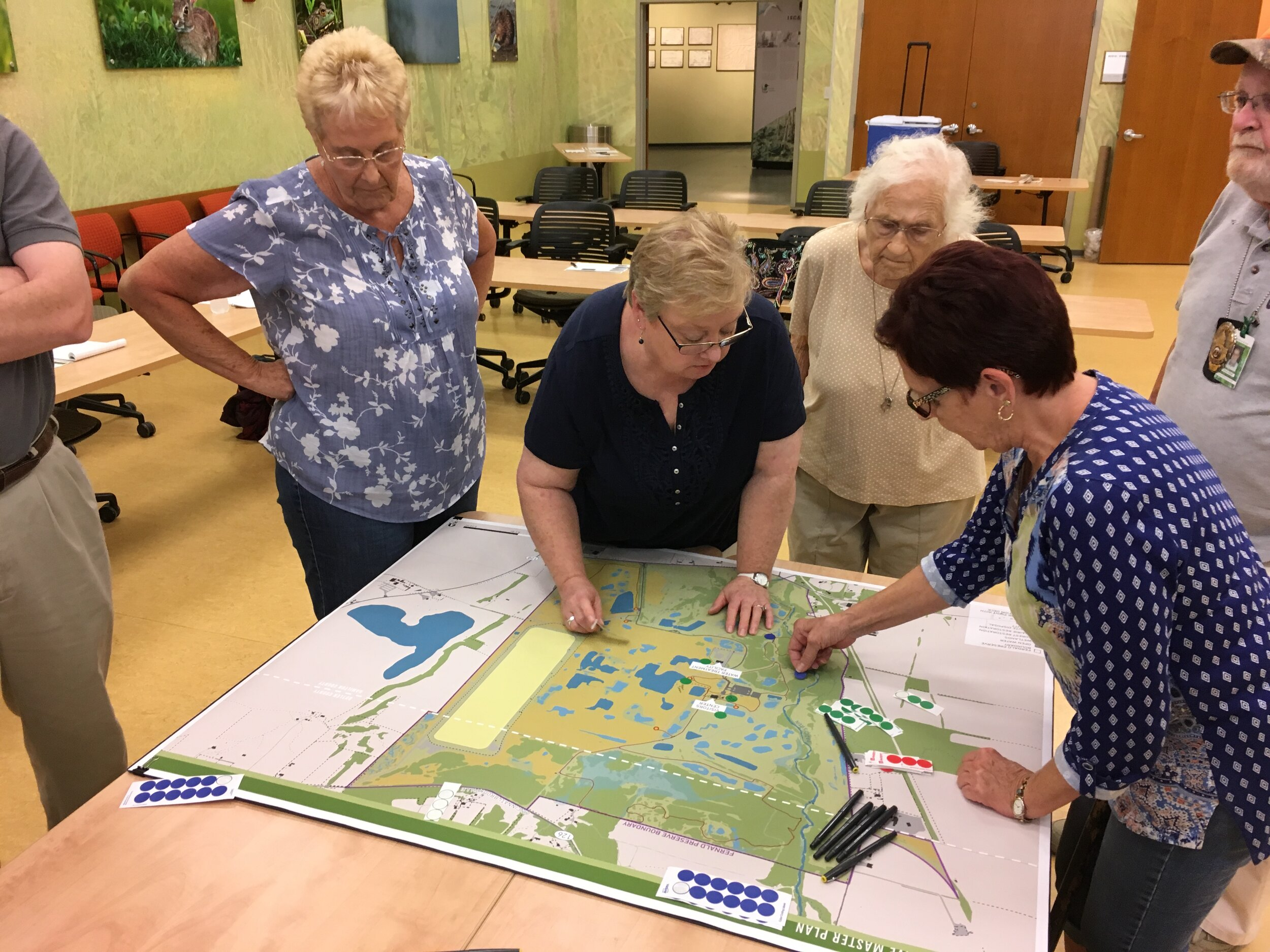 Figure 5: A series of public workshops were hosted at the Visitors Center to discuss potential future improvements as part of the 2019 Master Plan Update.