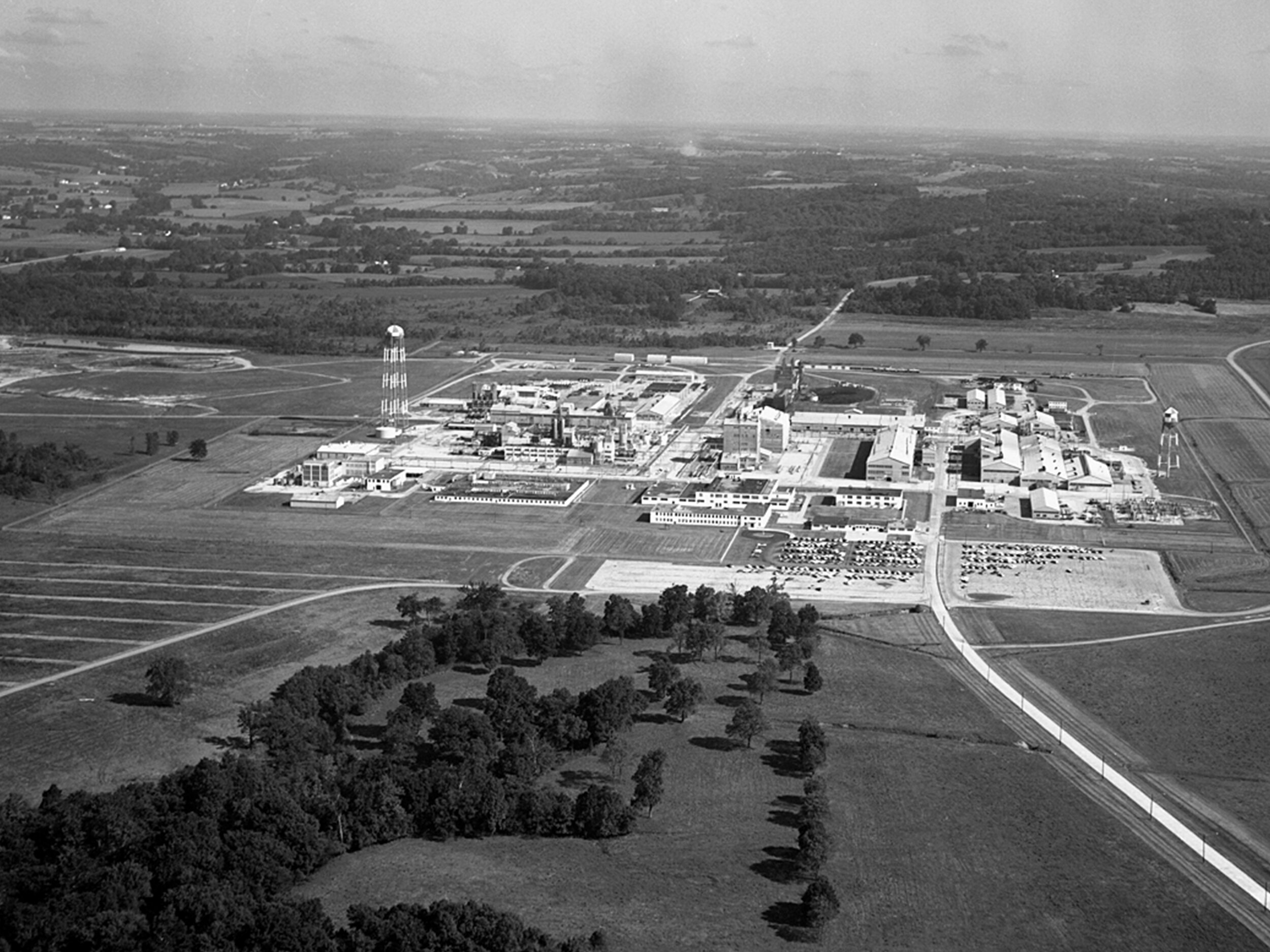 Figure 2: BEFORE - Aerial of the Fernald Feed Materials Production Center during the Cold War era