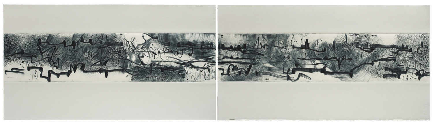 Ink Song Diptych V and VI