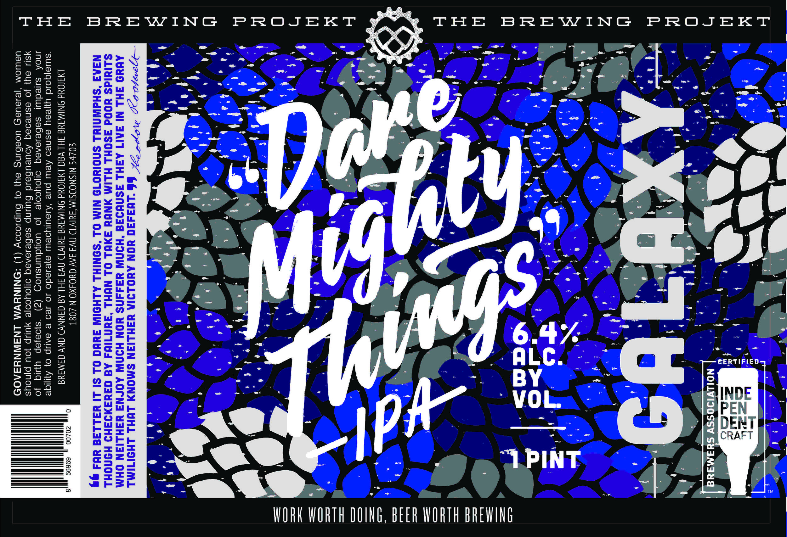 DMT - GALAXY - The next round of our single Hopped DMT series is... GALAXY! A super tropical hop from down under. Get it in cans while you can. In cans.