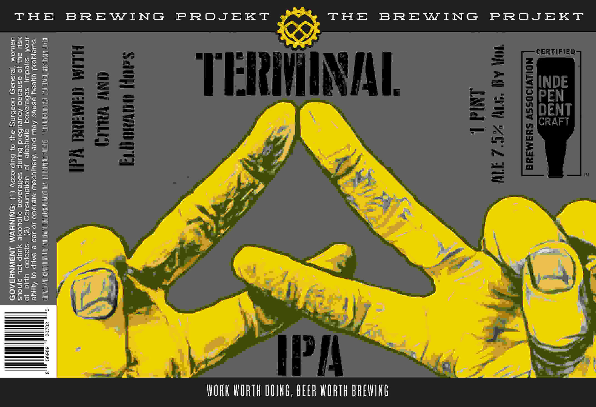 TERMINAL IPA - A New Hazy IPA brewed up with two of our favorite hops: Citra and El Dorado. This one is a tip of the hat to Will's time spent in the USMC and honors all the silly ass E3s. Back in 1775... 7.5% ABV