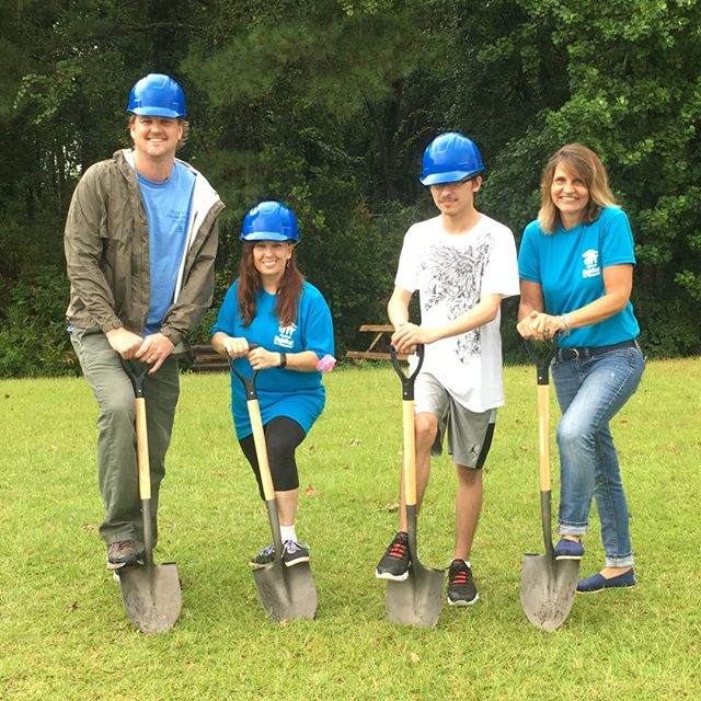 #flashbackfriday - last weekend we weathered the rain to break ground on our Faith Build home for Tina and Dakota in North Charleston. We're excited to partner with Anchor Sponsor First Scots Presbyterian Church and others who are donating funds and/or time. Call 843-203-4025 to learn more! #volunteer #chashabitat #chs #faithbuild #habitatforhumanity