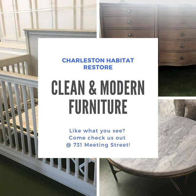 Are you a fan of clean lines and modern aesthetics? We have the perfect furniture selection to fill your space! Come see us today!  #chashabitat #restore #habitatforhumanity #shoplocal #charlestonsc #731meetingstreet