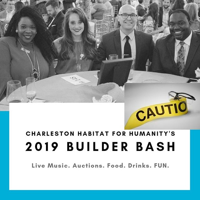 Just one more week until Builder Bash...It's sure to be a night of dancing, bidding and laughs at the gala event of the year! Have you gotten your tickets yet?! http://ow.ly/Kflk50wfCre #chashabitat #builderbash #funforacause #charlestonevents #thecedarroom #constructioncouture