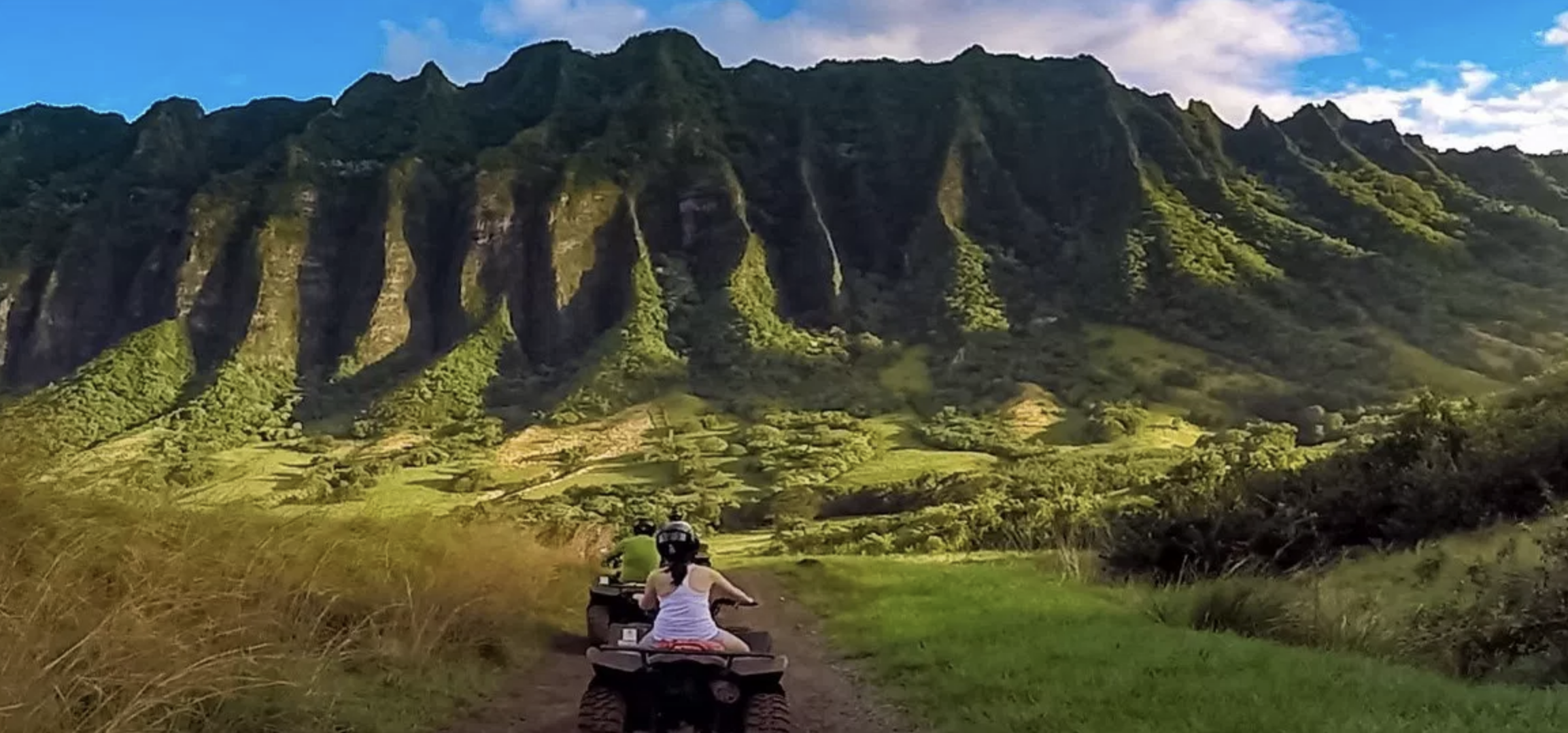 Kualoa Ranch - Choose your own adventure filled with options like ATV, Zip Lining... or relaxing in a hammock on a secret island.