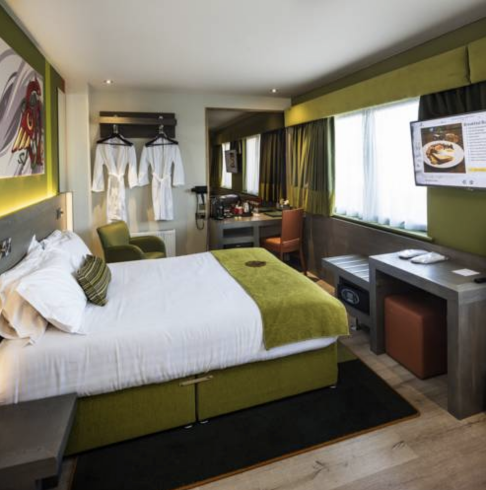 HOTELS - Staying at these hotels or something similarDublin:Temple Bar HotelCork:Muskerry Arms Hotel(breakfast included)Kilarney:Old Weir LodgeEnnis:Hotel WoodstockGalway:The Jurry's Inn HotelAthlone:Sheraton Athlone Hotel
