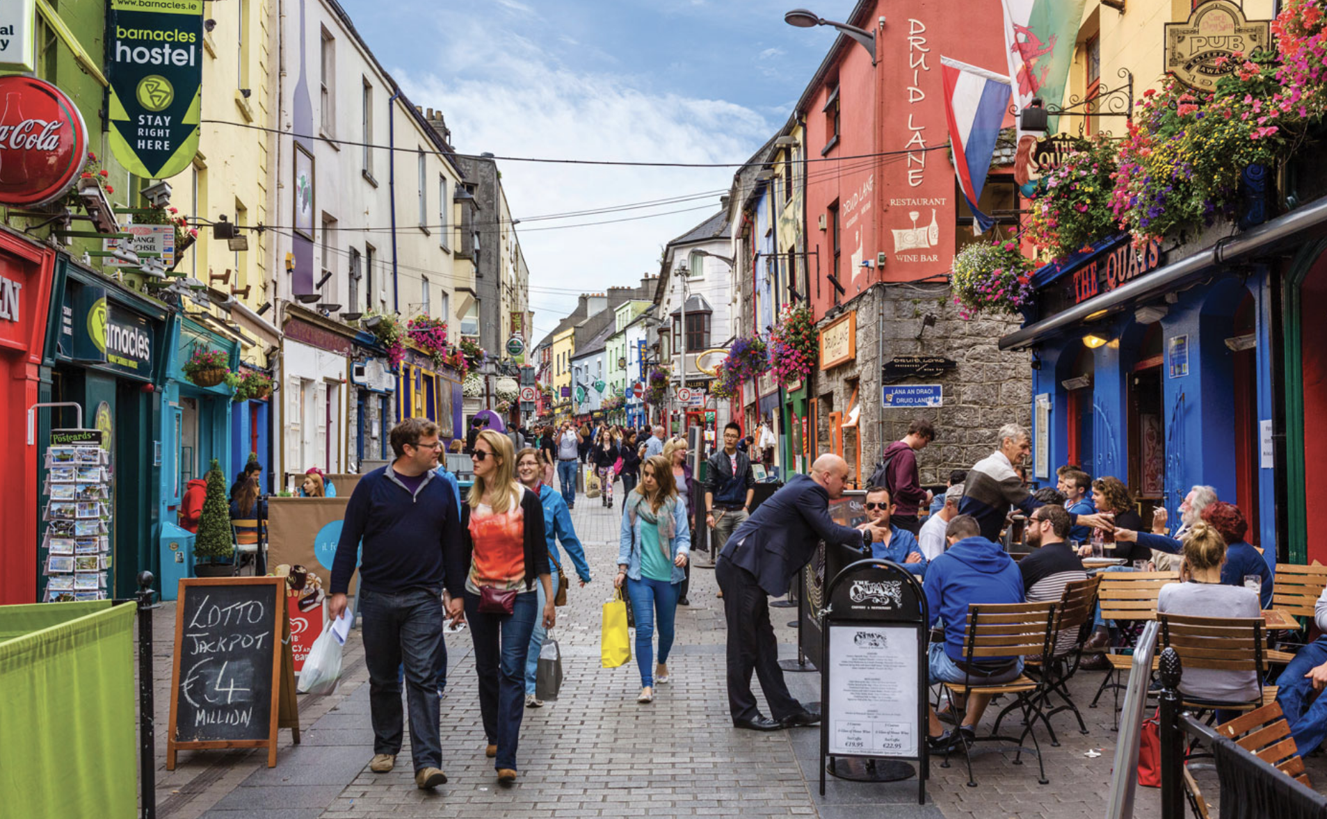 September 14:Explore more of Galway - Use this last day in Galway to walk the streets, drive the Connemara one last time or go on a castle hunt along the Wild Atlantic Way!