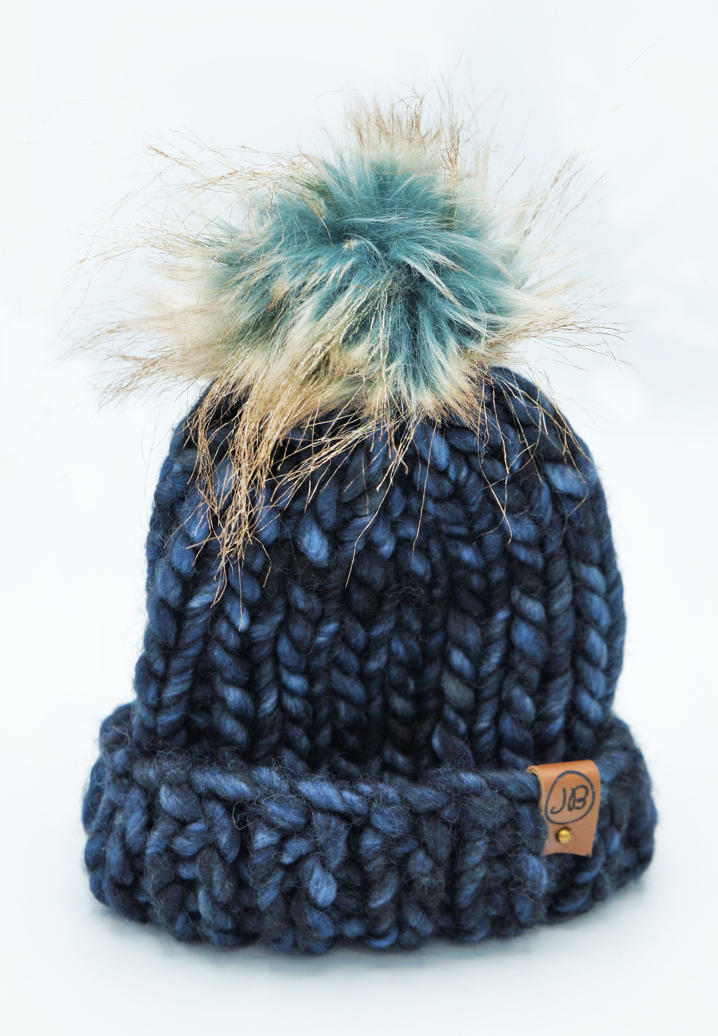 Kid's Winter Hat with Detachable Pompom Blue [1 Year] $65.00