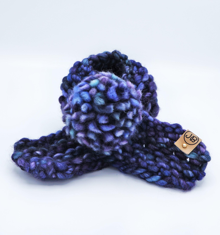Puppy Scarf   Blue & Purple   Medium $55