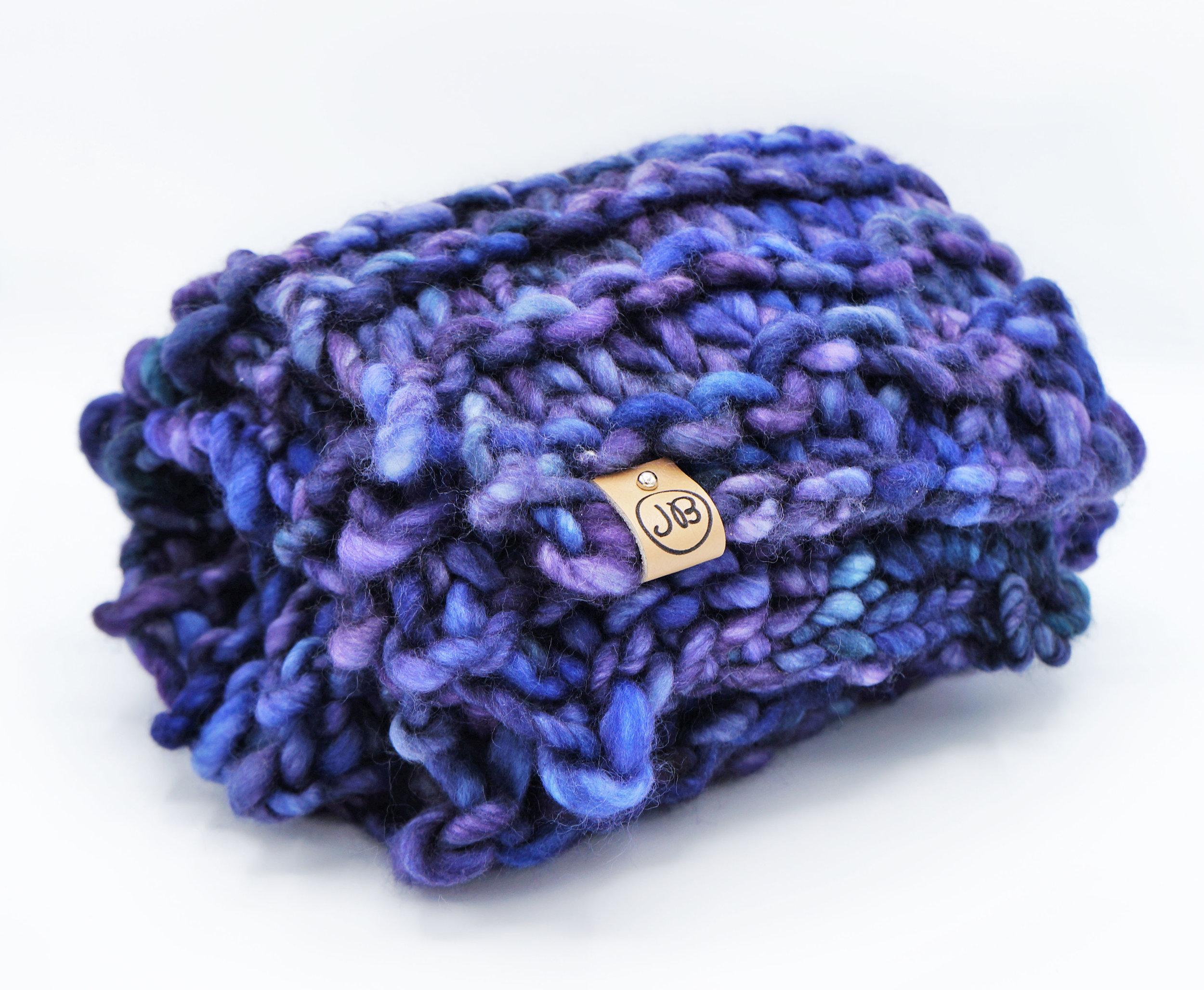 Chunky Scarf   Blue & Purple $139