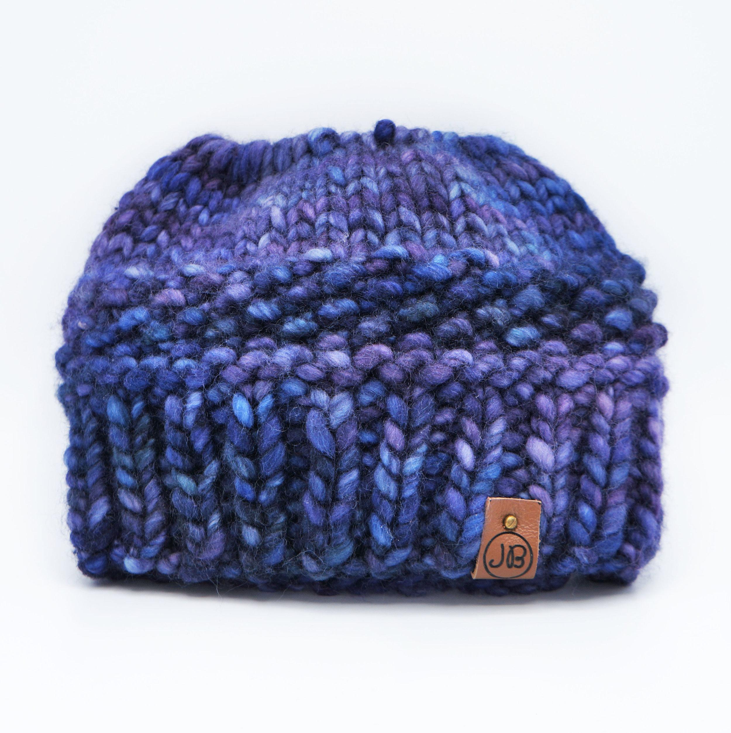 Messy Bun   Blue & Purple $75