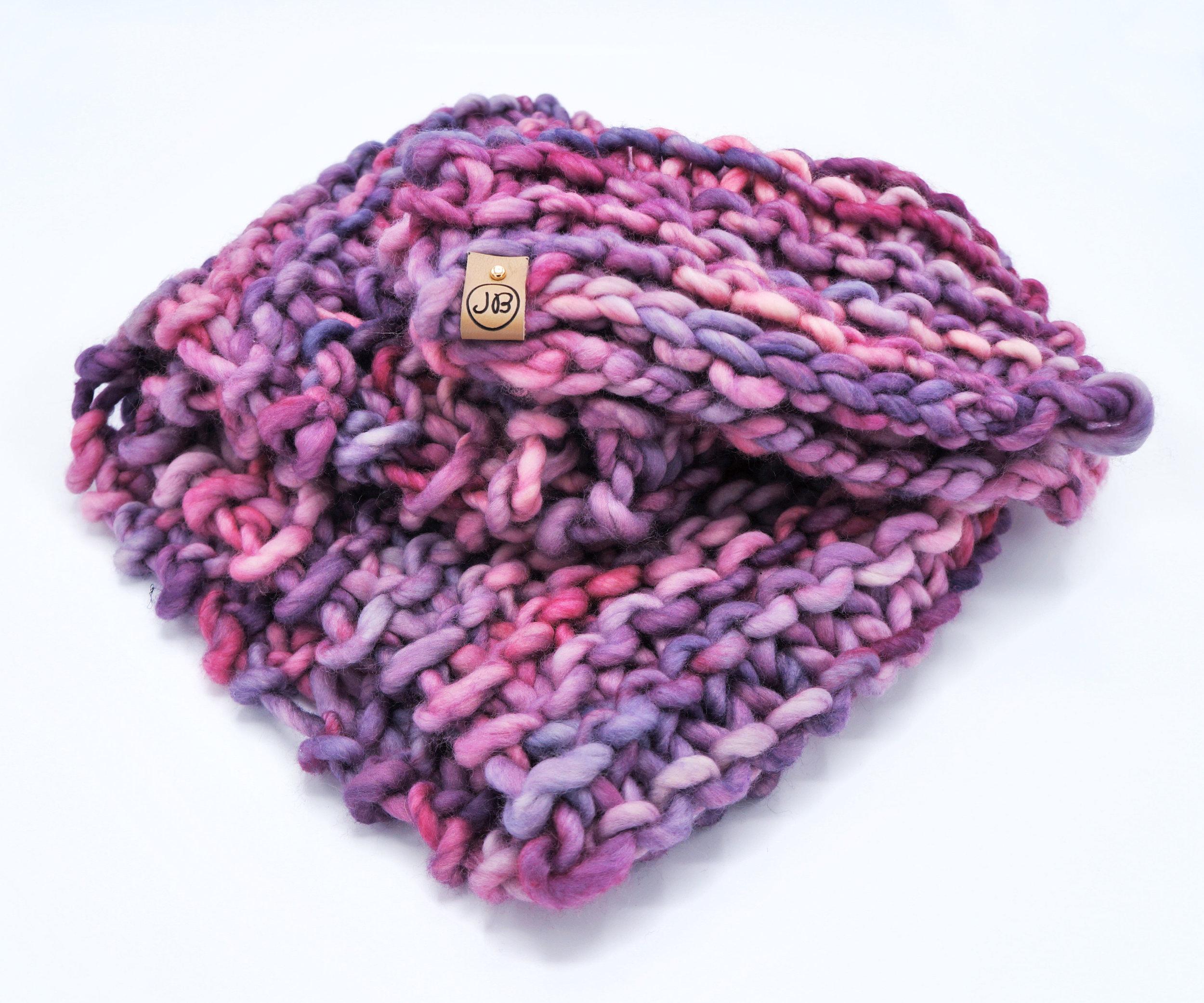 Chunky Scarf   Pink & Purple $139