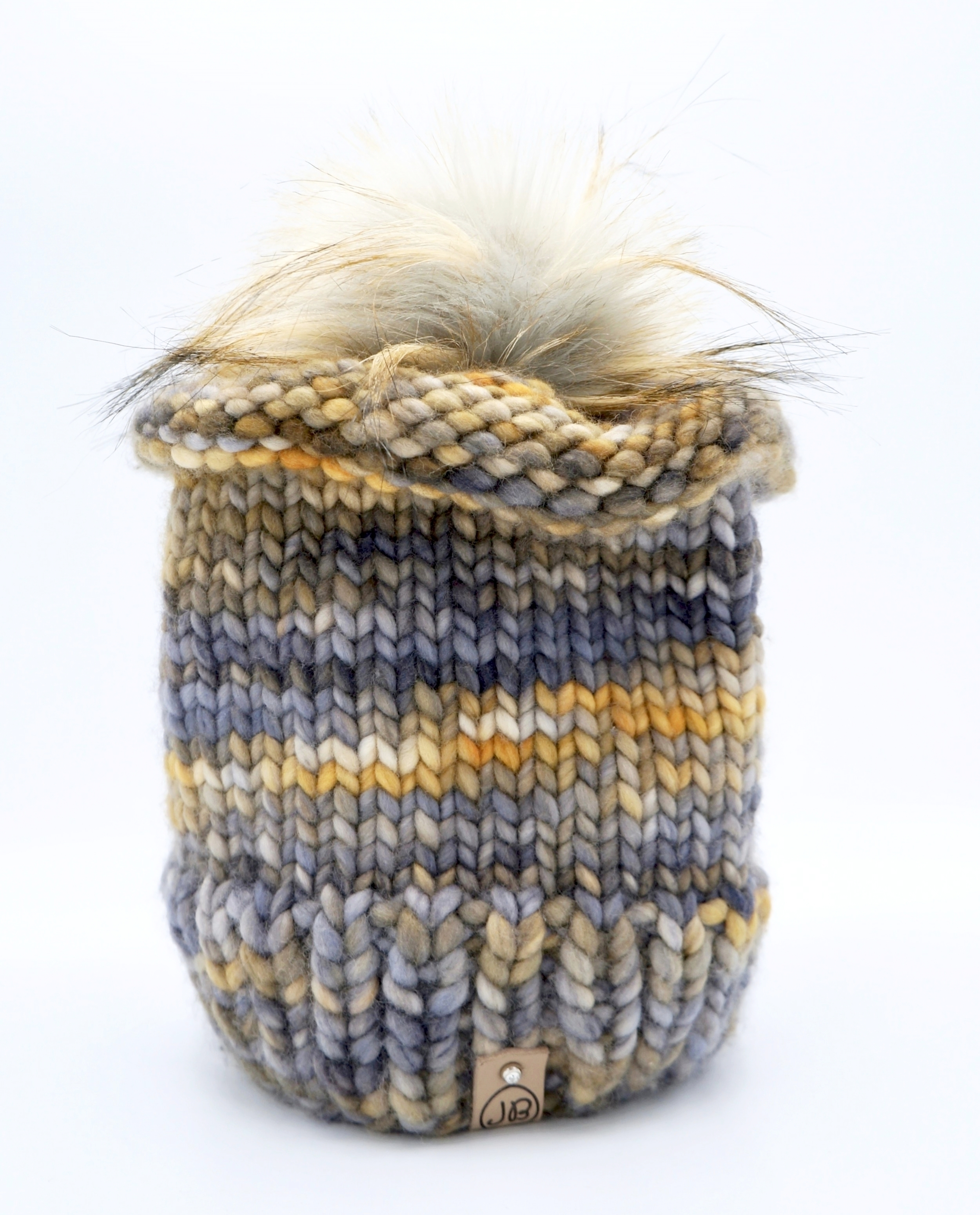 Chic Winter Hat with Detachable Pompom Light Caramel $125.00