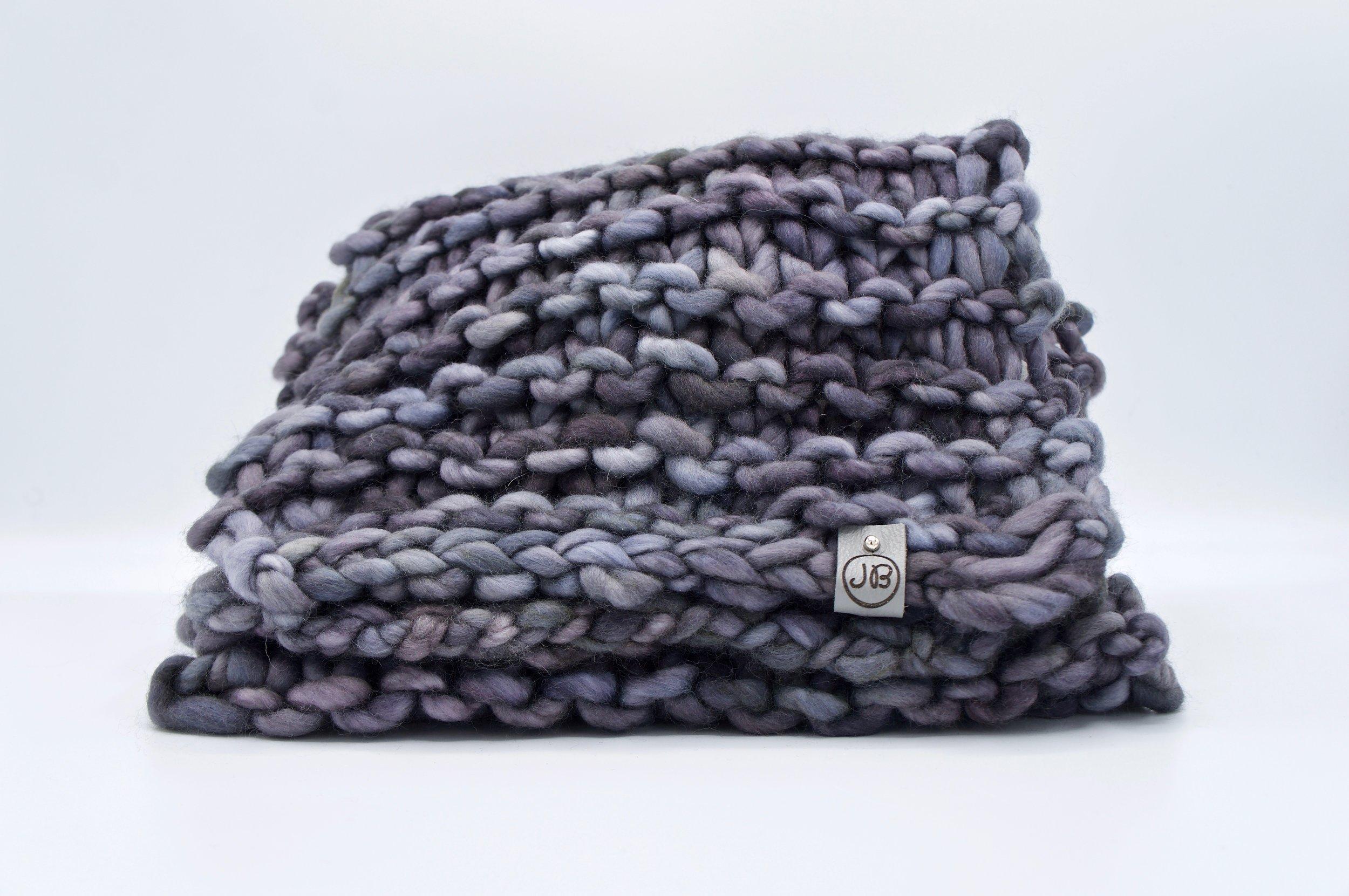 Chunky Scarf   Gray & Purple Plomo $139