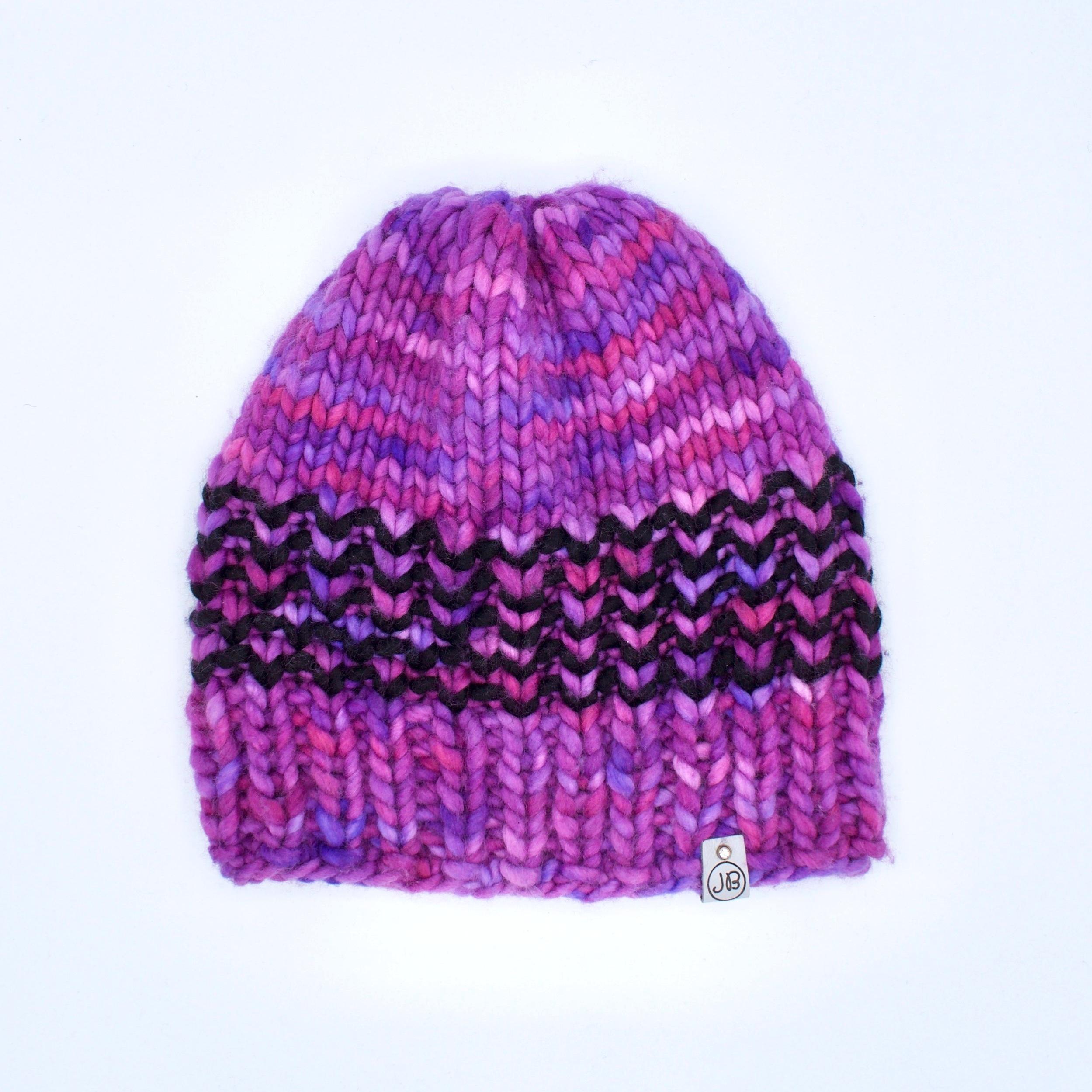 Slouchy Hat   Dark Pink & Purple  $125