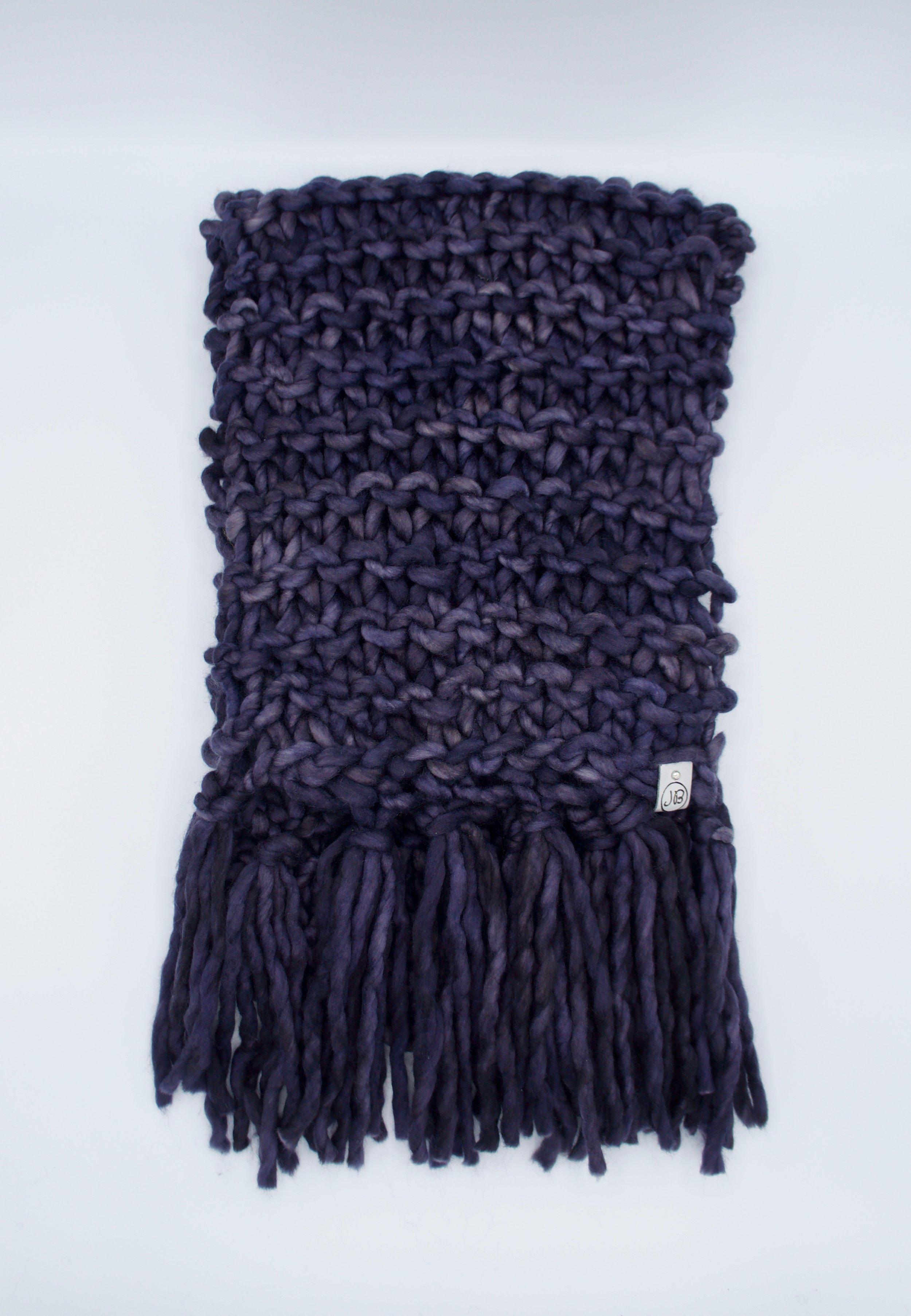 Fringed Scarf   Purple $165.00