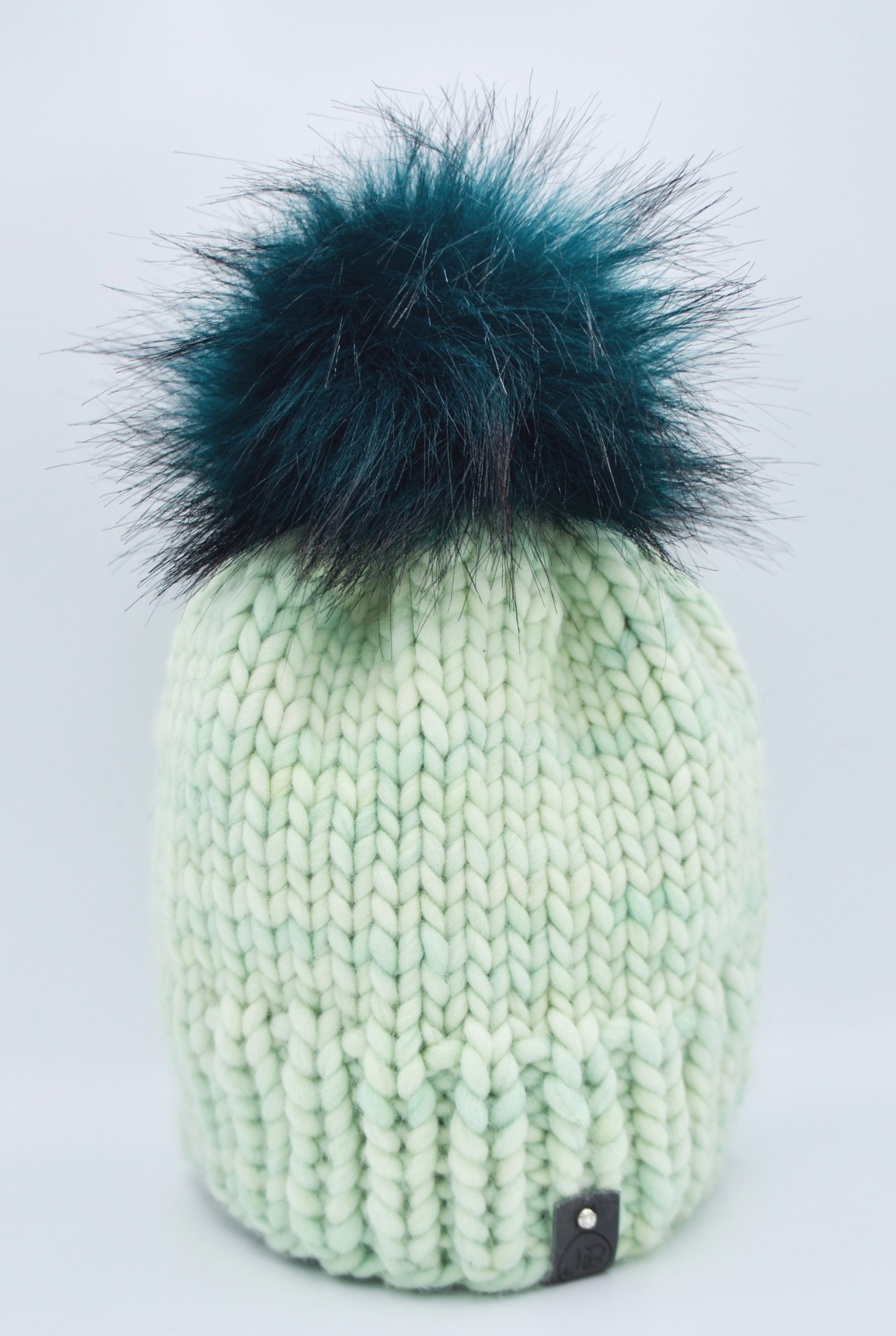 Beanie Hat with Detachable Pompom Baby Green $115.00