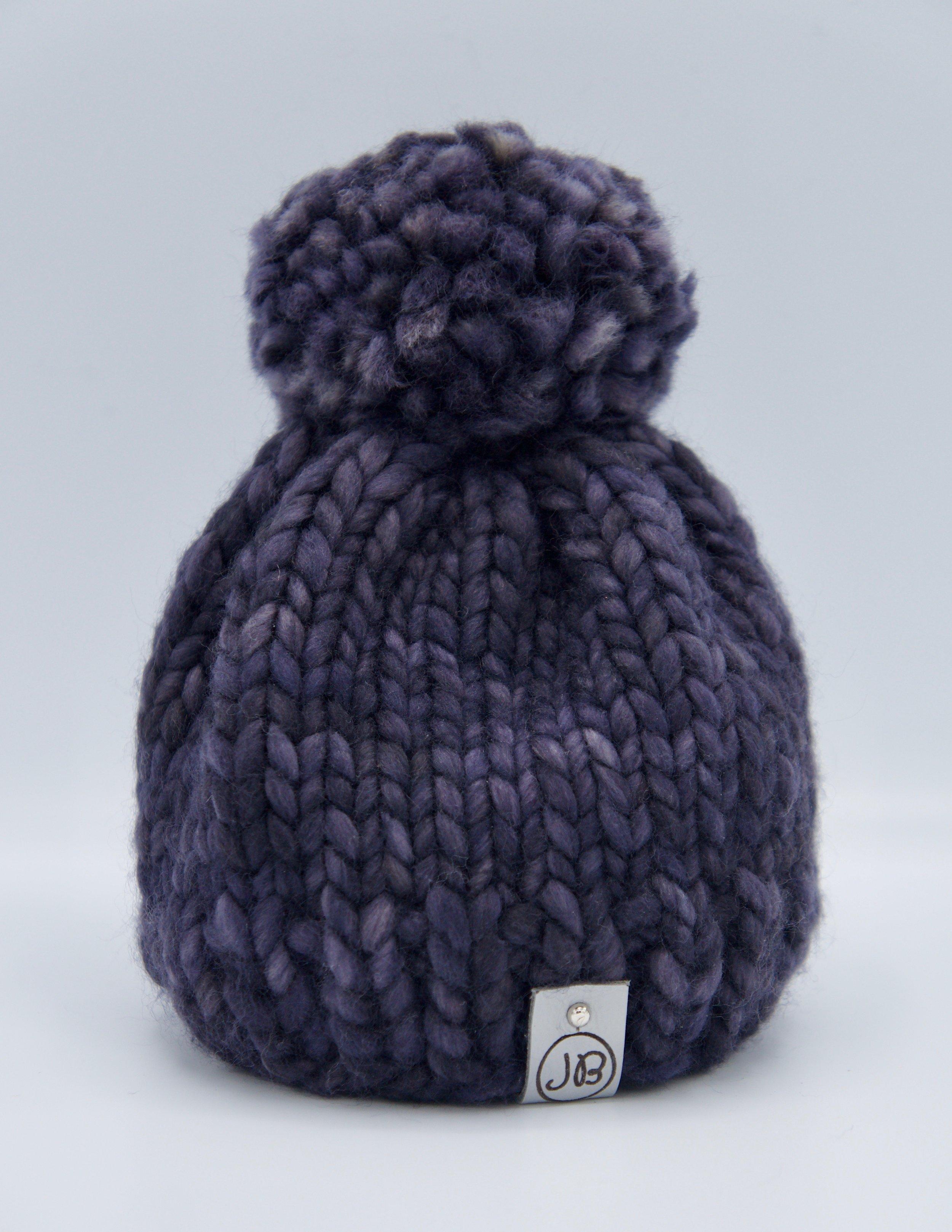Kid's Beanie with Detachable Pompom Purple [Newborn] $65.00