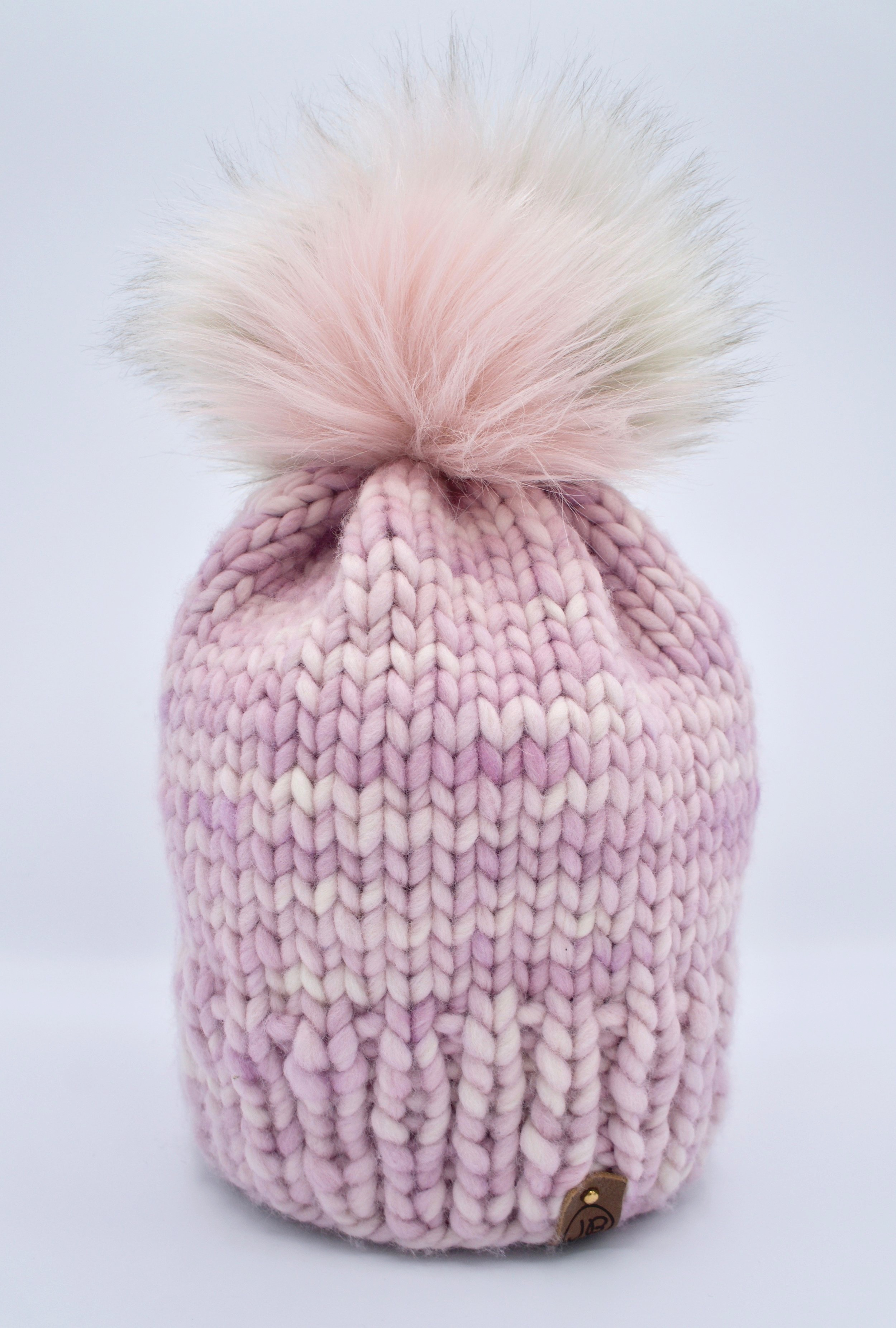 Beanie Hat with Detachable Pompom Baby Pink $115.00